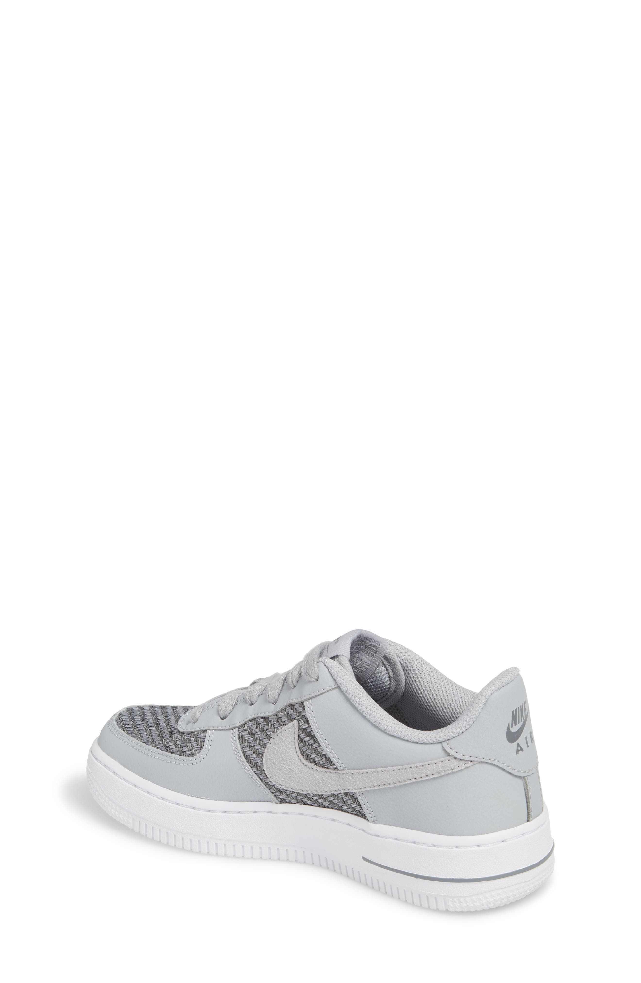 Air Force 1 LV8 Sneaker,                             Alternate thumbnail 2, color,                             Cool Grey/ White