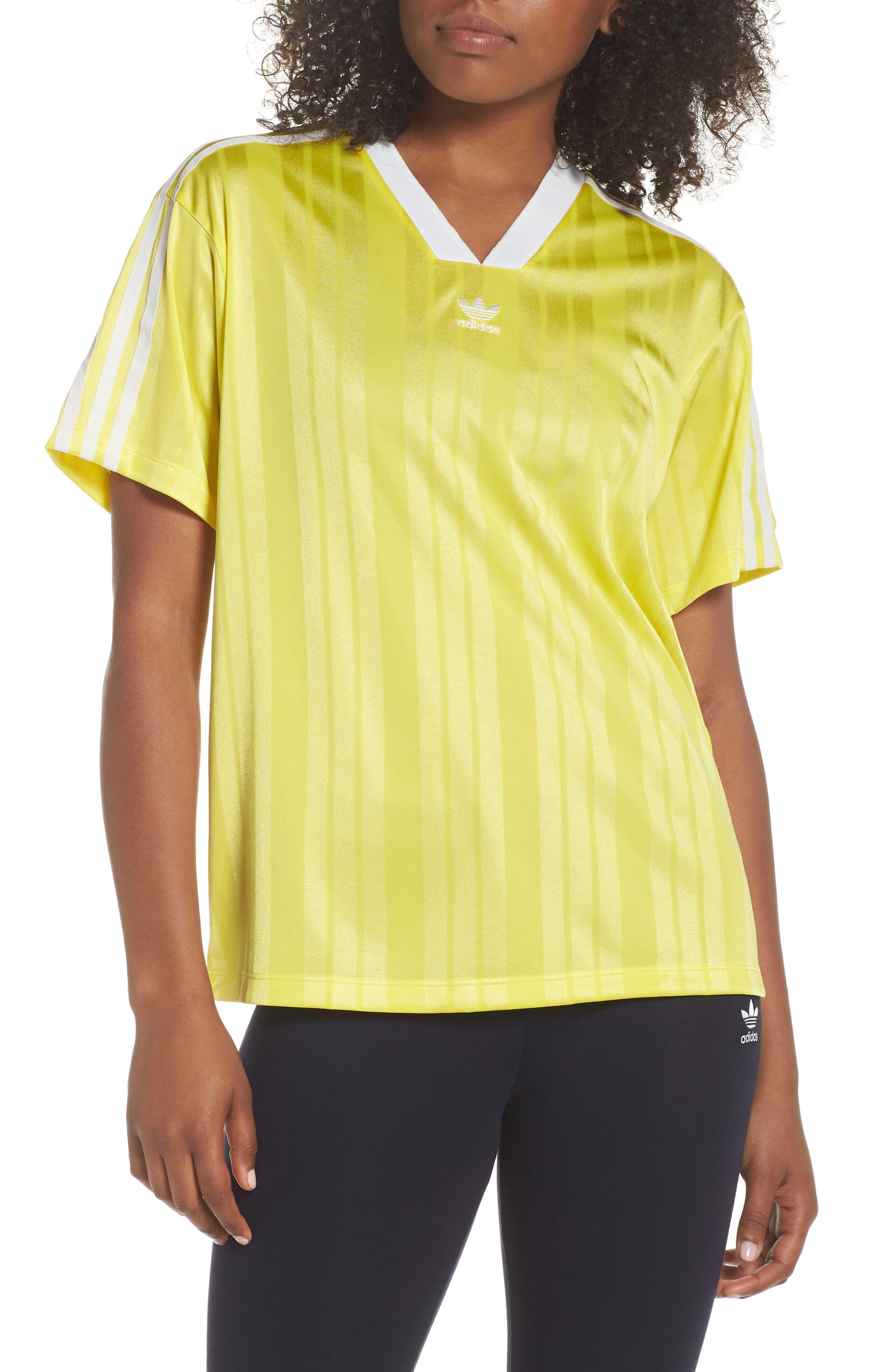 Originals Fashion League Jersey Tee,                             Main thumbnail 1, color,                             Prime Yellow