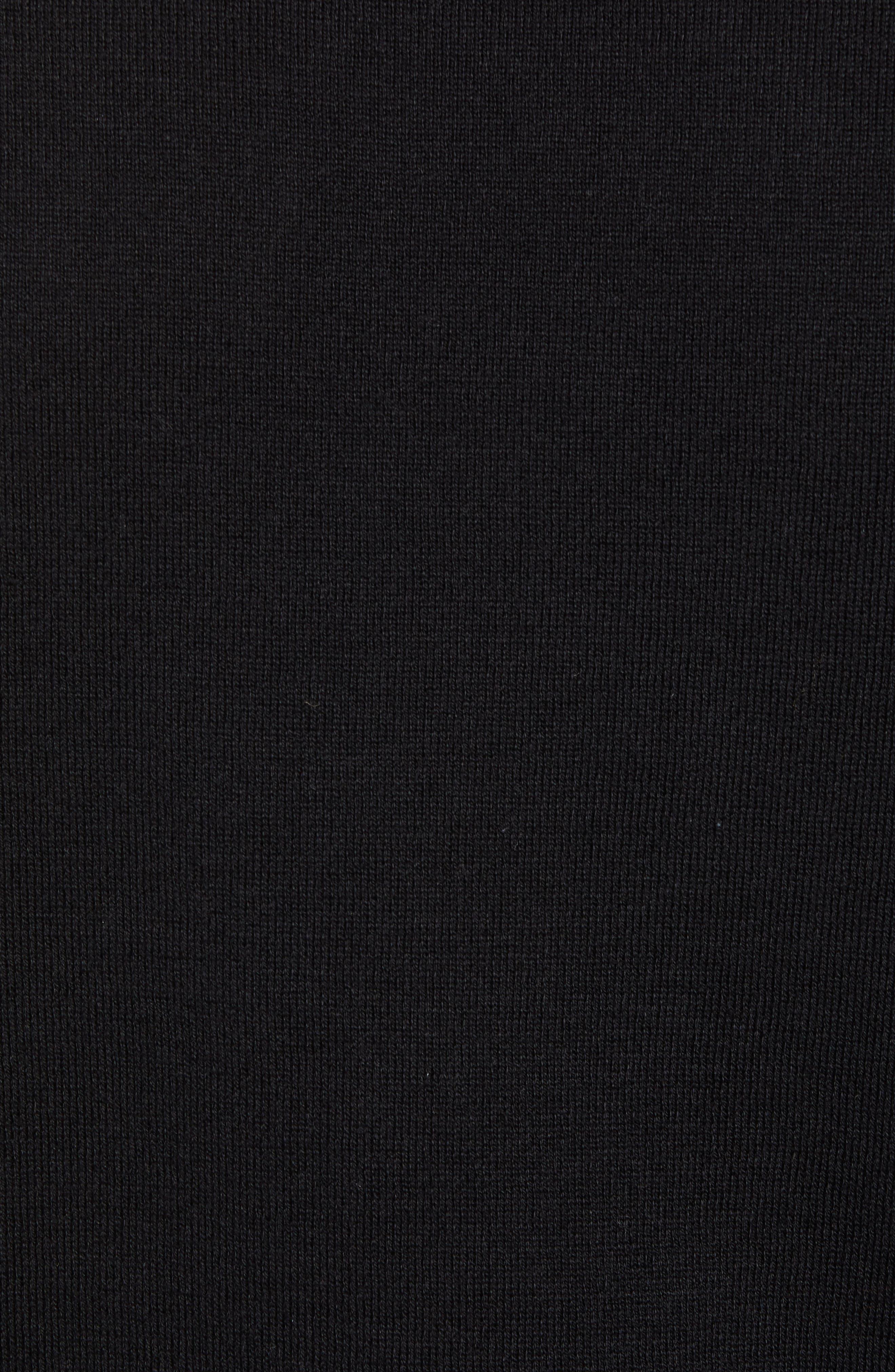 Stripe Sleeve Sweater,                             Alternate thumbnail 5, color,                             Black