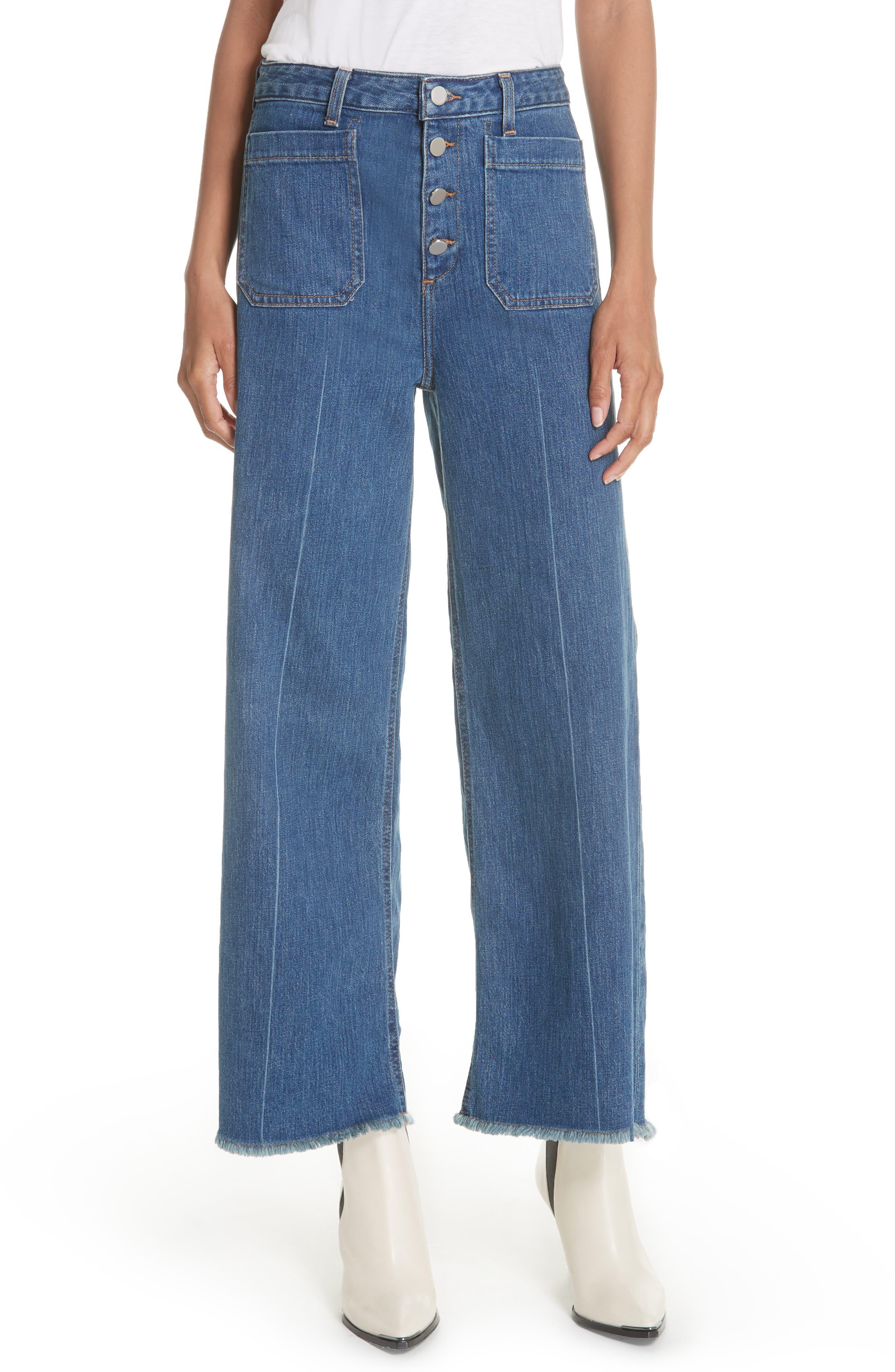 Carmine Wide Leg Jeans,                             Main thumbnail 1, color,                             Medium Denim