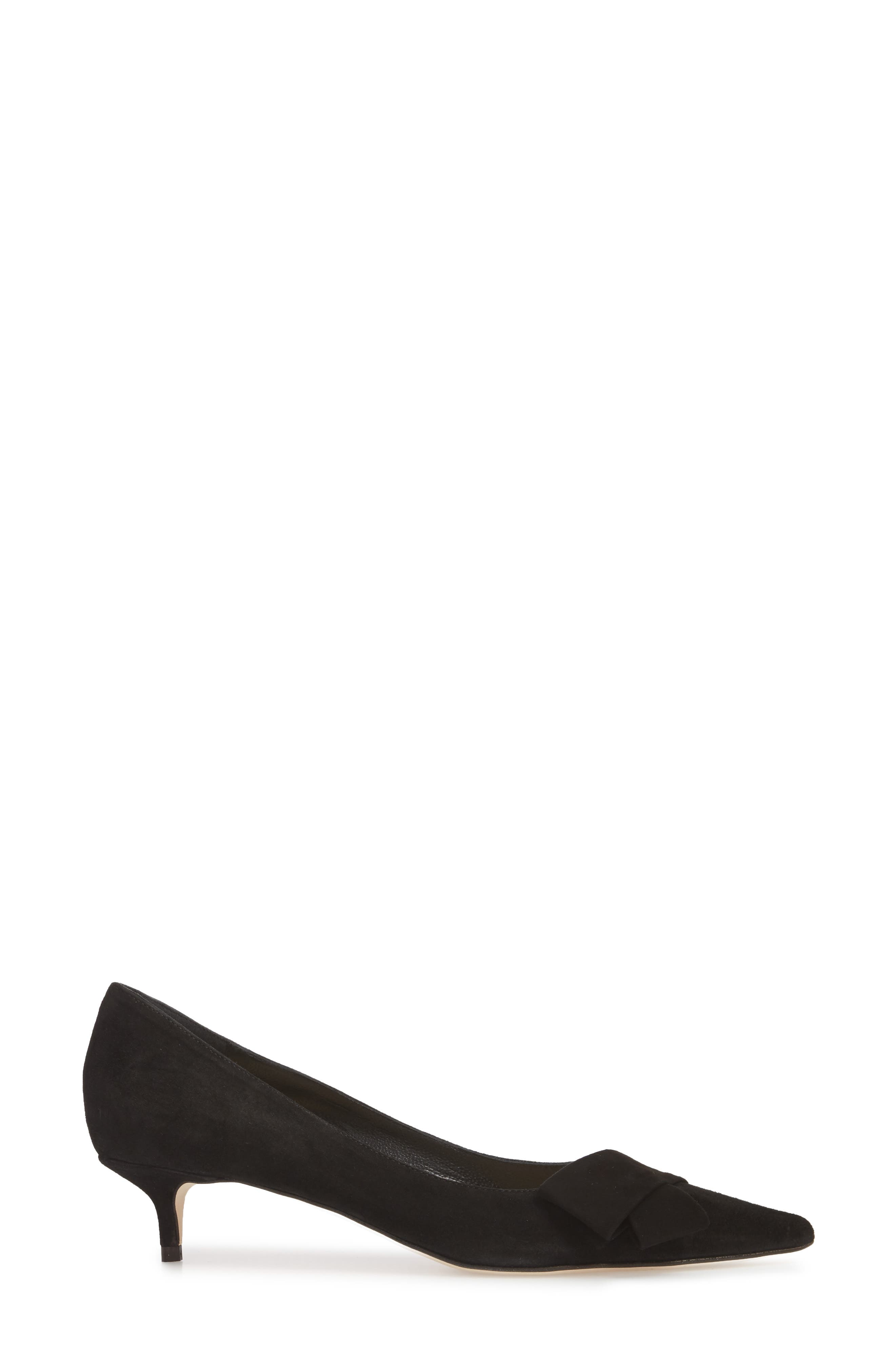 Butter Bliss Pointy Toe Pump,                             Alternate thumbnail 4, color,                             Black Suede