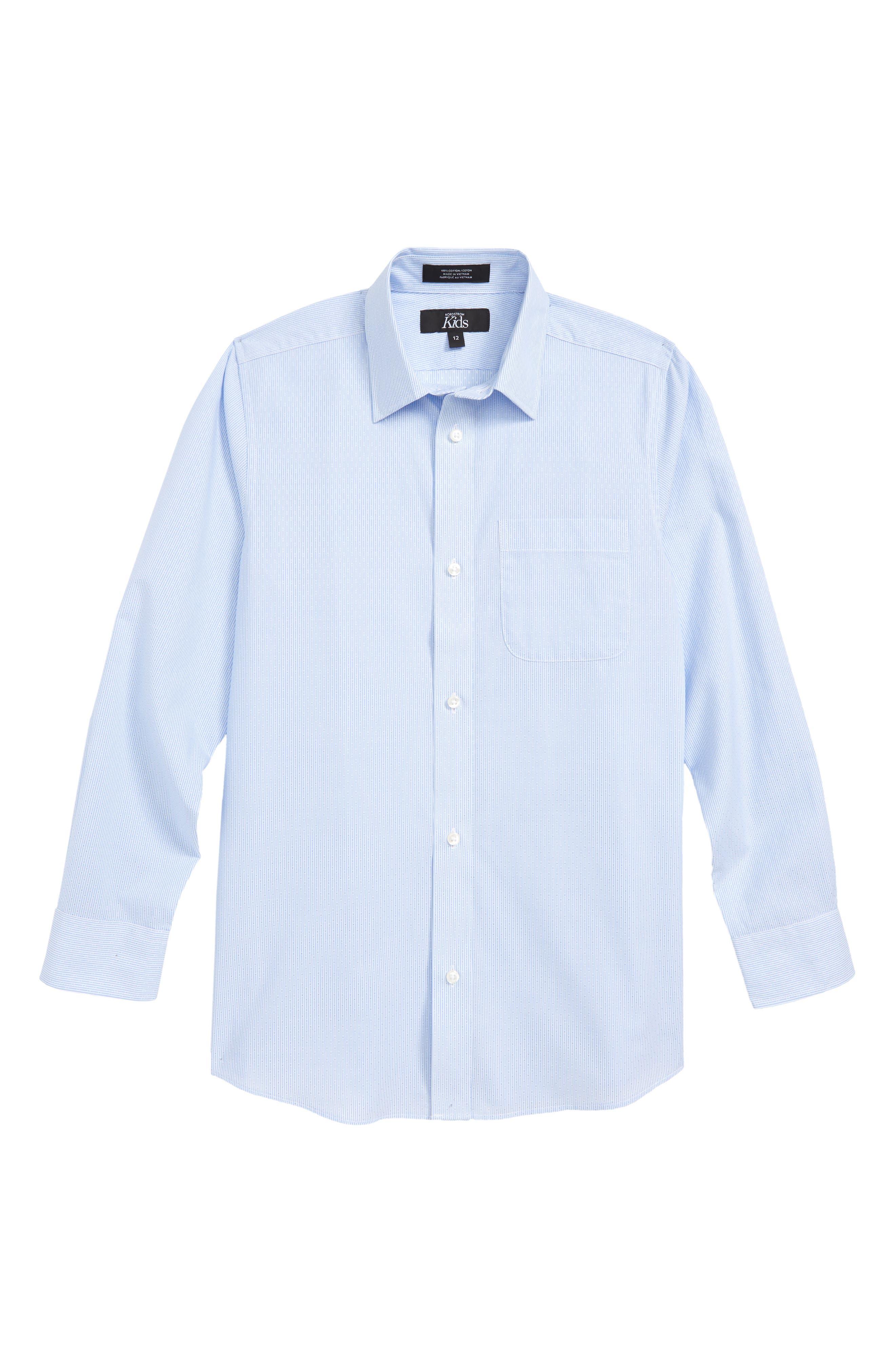 Robbia Dobby Dress Shirt,                         Main,                         color, Blue Robbia- White Dobby