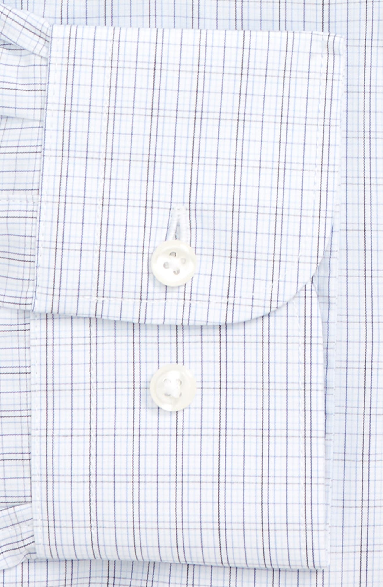 Traditional Fit Plaid Dress Shirt,                             Alternate thumbnail 5, color,                             Navy Medieval