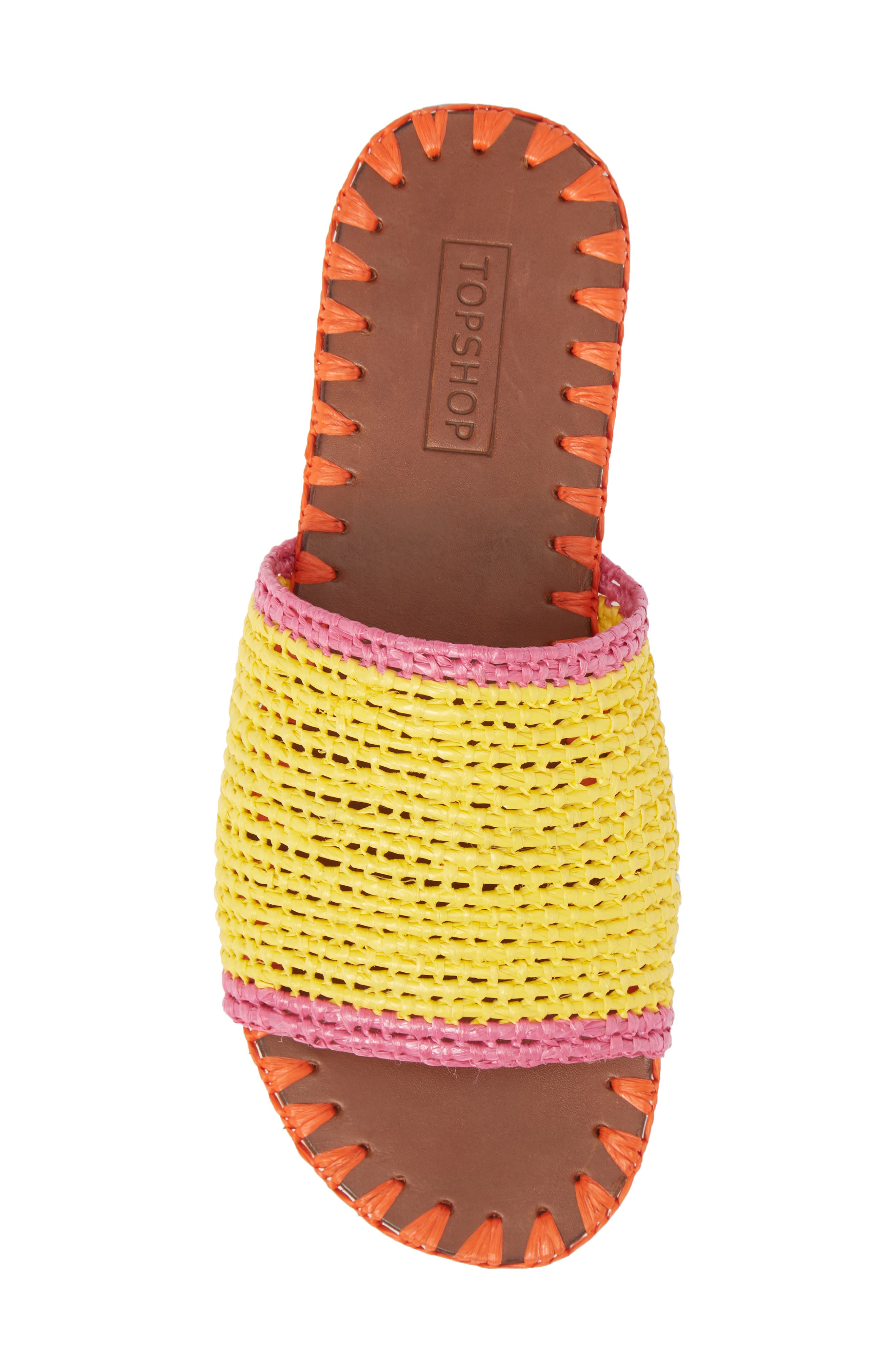 Fresh Woven Slide Sandal,                             Alternate thumbnail 5, color,                             Yellow Multi