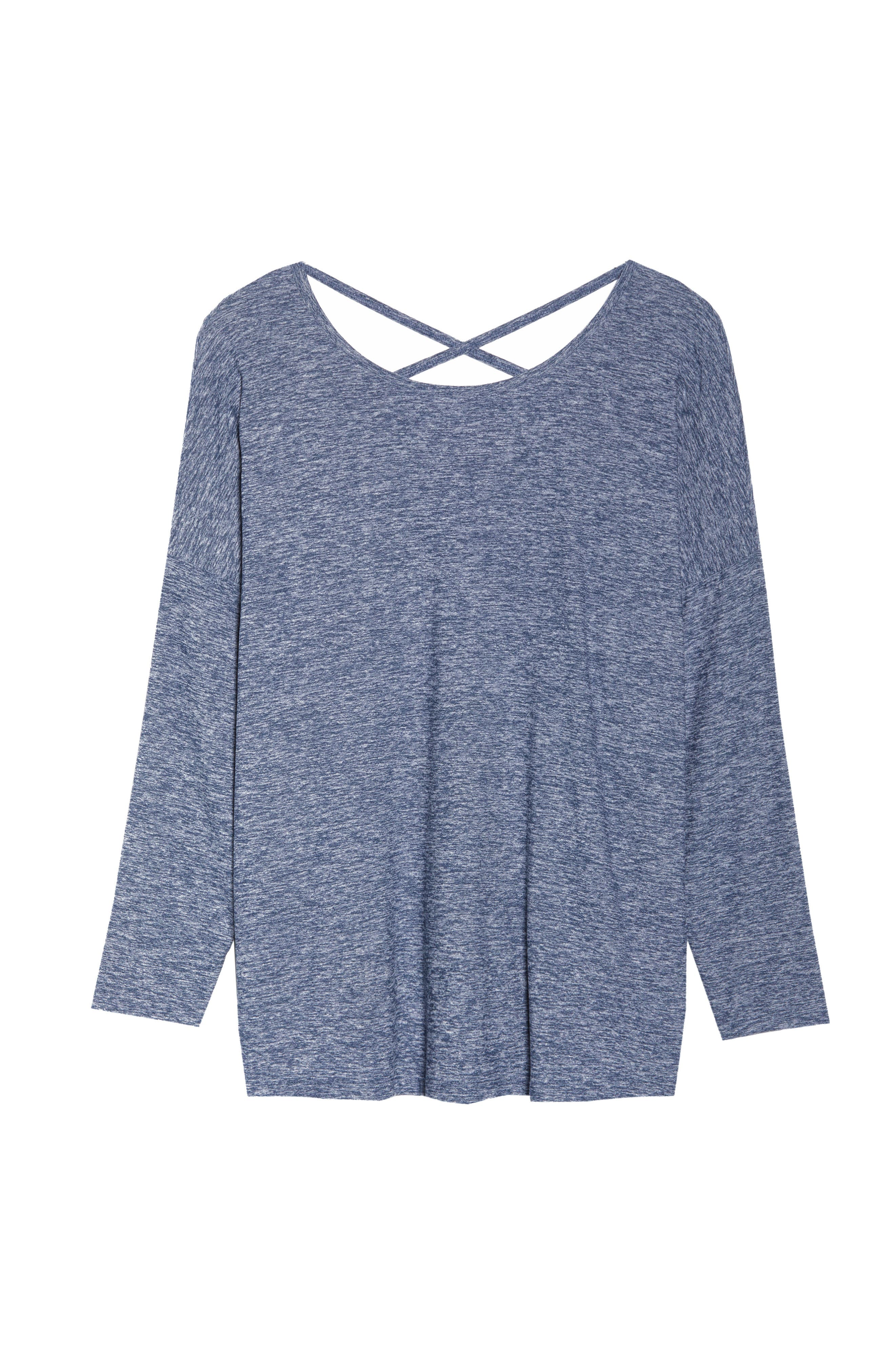 Weekend Traveler Pullover,                             Alternate thumbnail 7, color,                             White/ Outlaw Navy