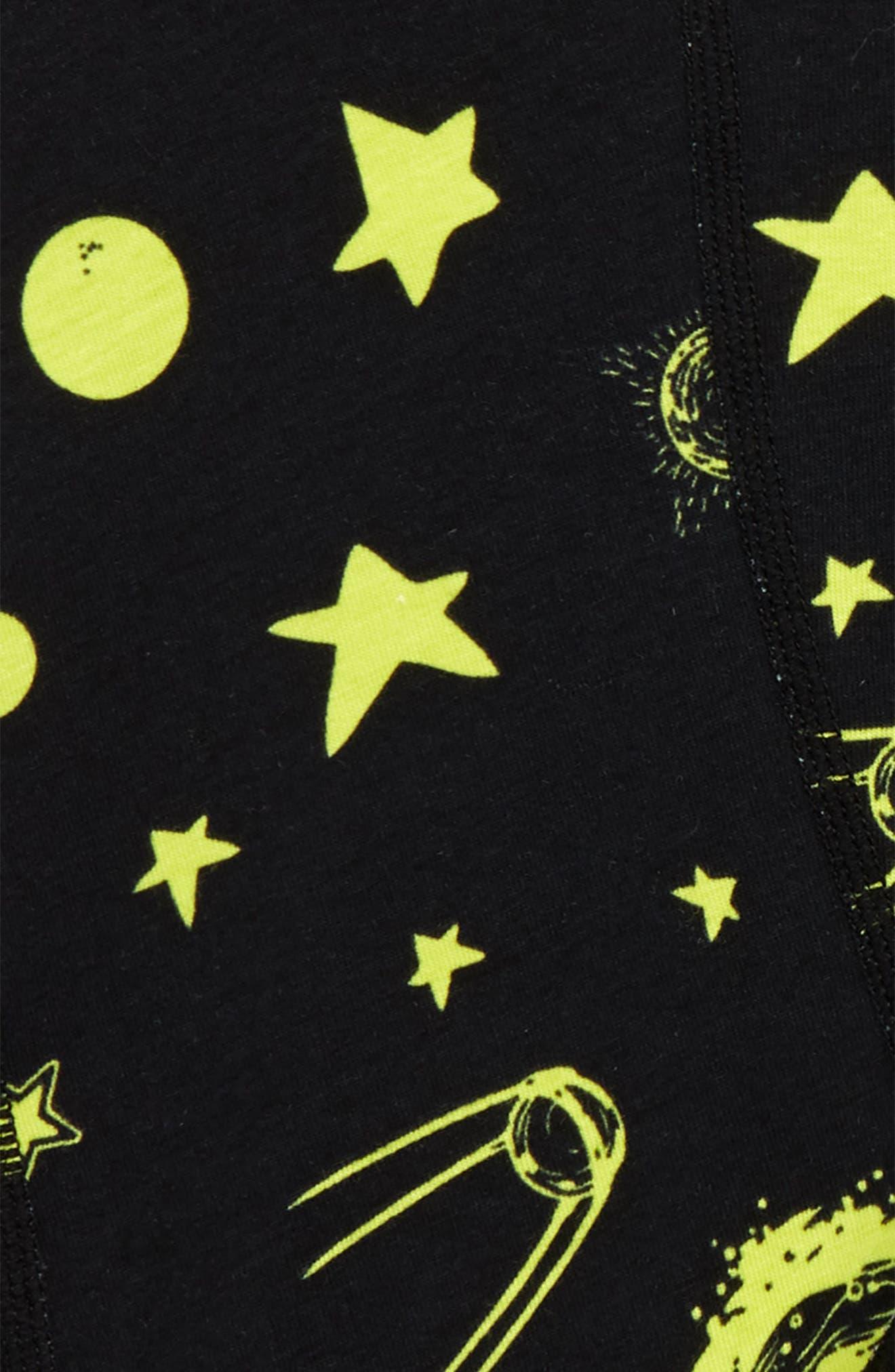 Ceiling Stars Stretch Boxer Briefs,                             Alternate thumbnail 4, color,                             Black