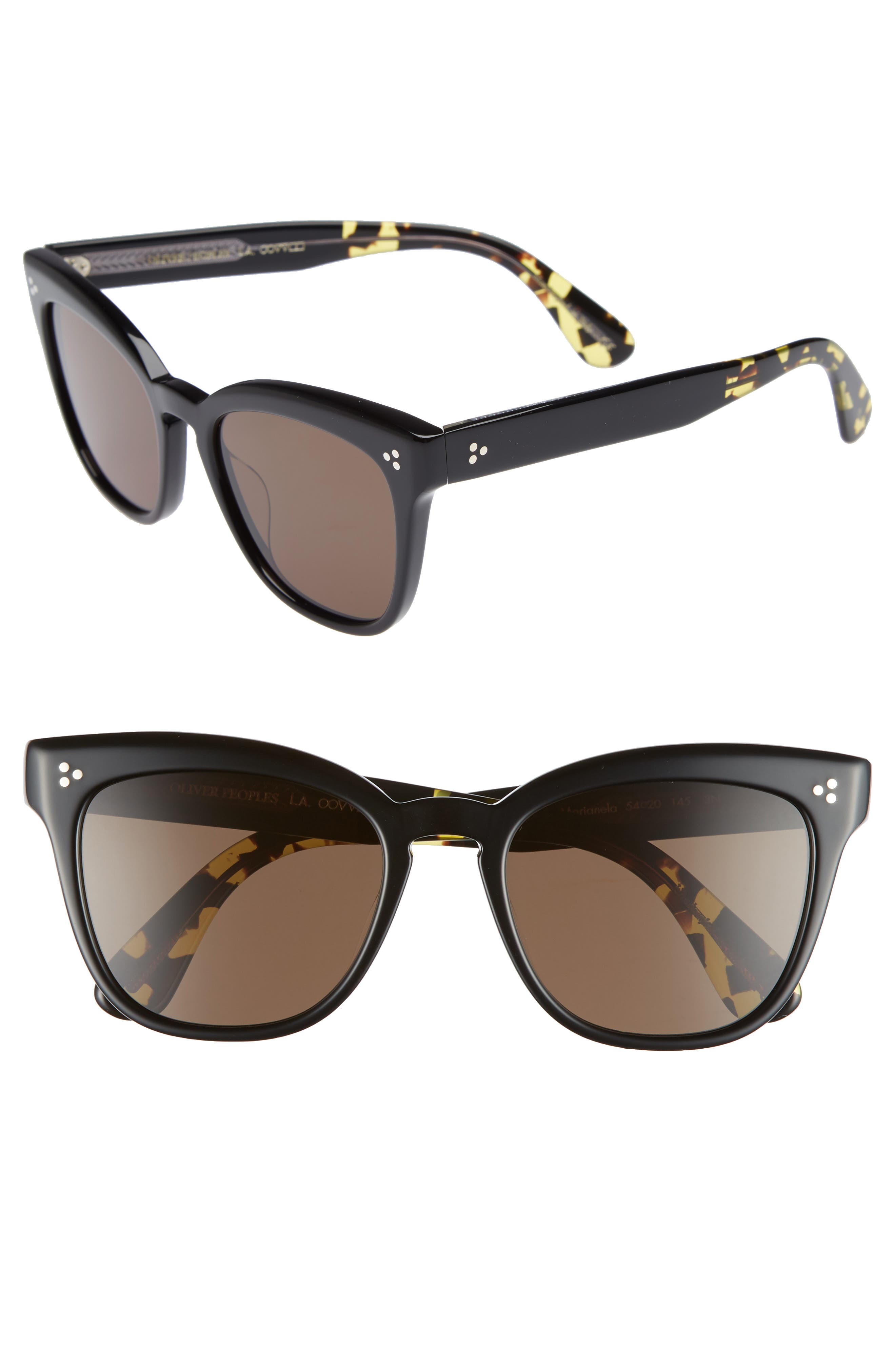 Marianela 54mm Cat Eye Sunglasses,                             Main thumbnail 1, color,                             Black