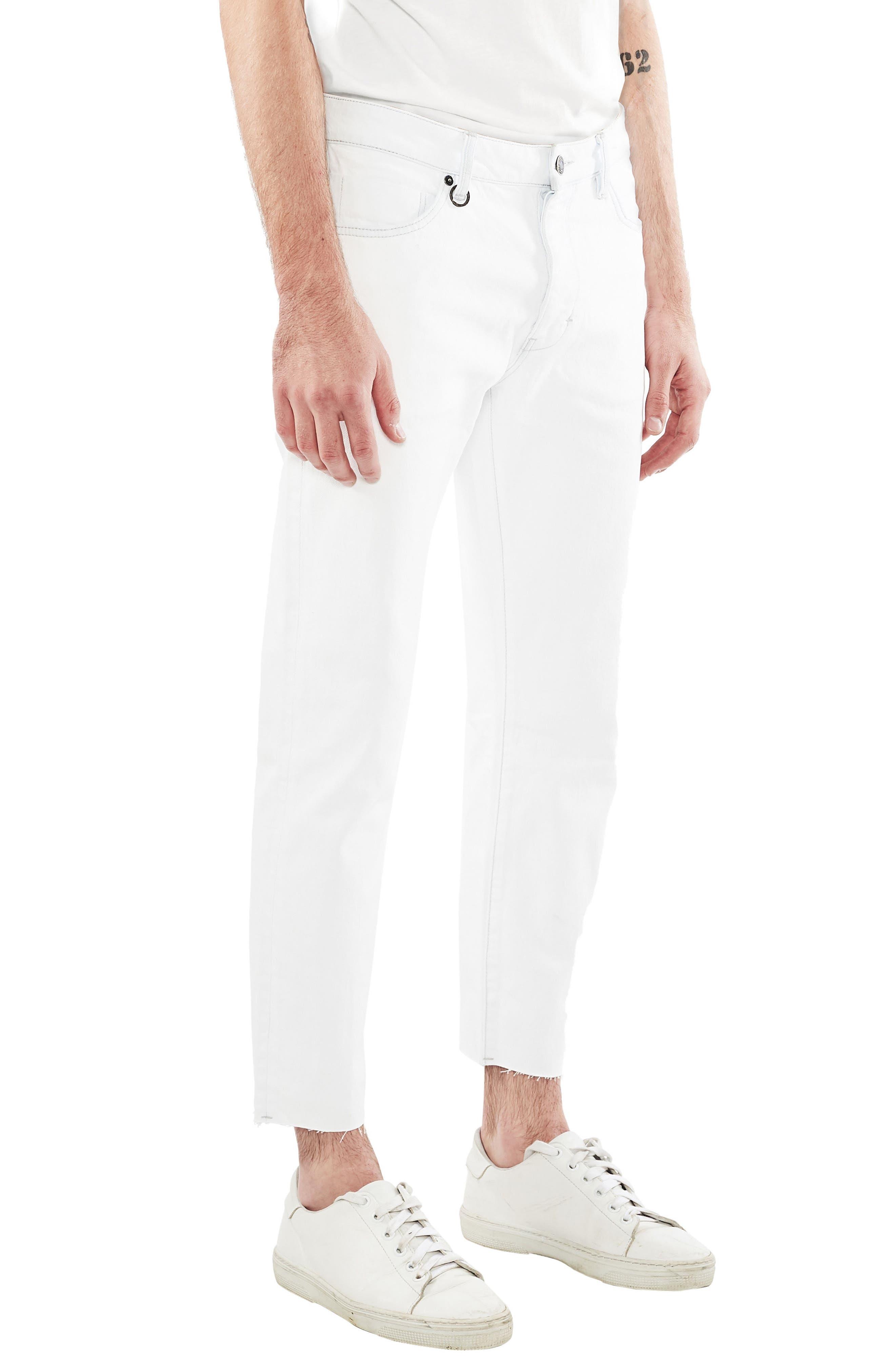 Lou Slim Fit Crop Jeans,                             Alternate thumbnail 2, color,                             Communion White