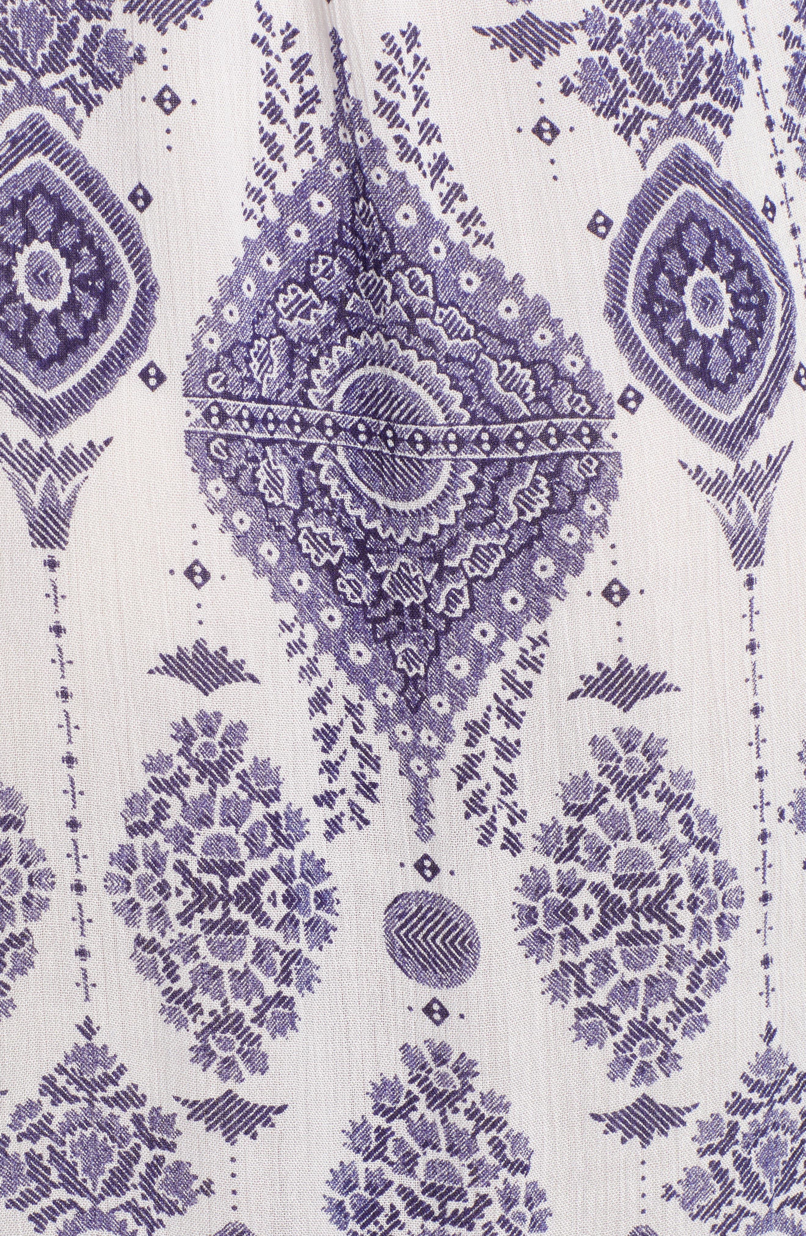 Andrea Maxi Dress,                             Alternate thumbnail 3, color,                             Blue/ White