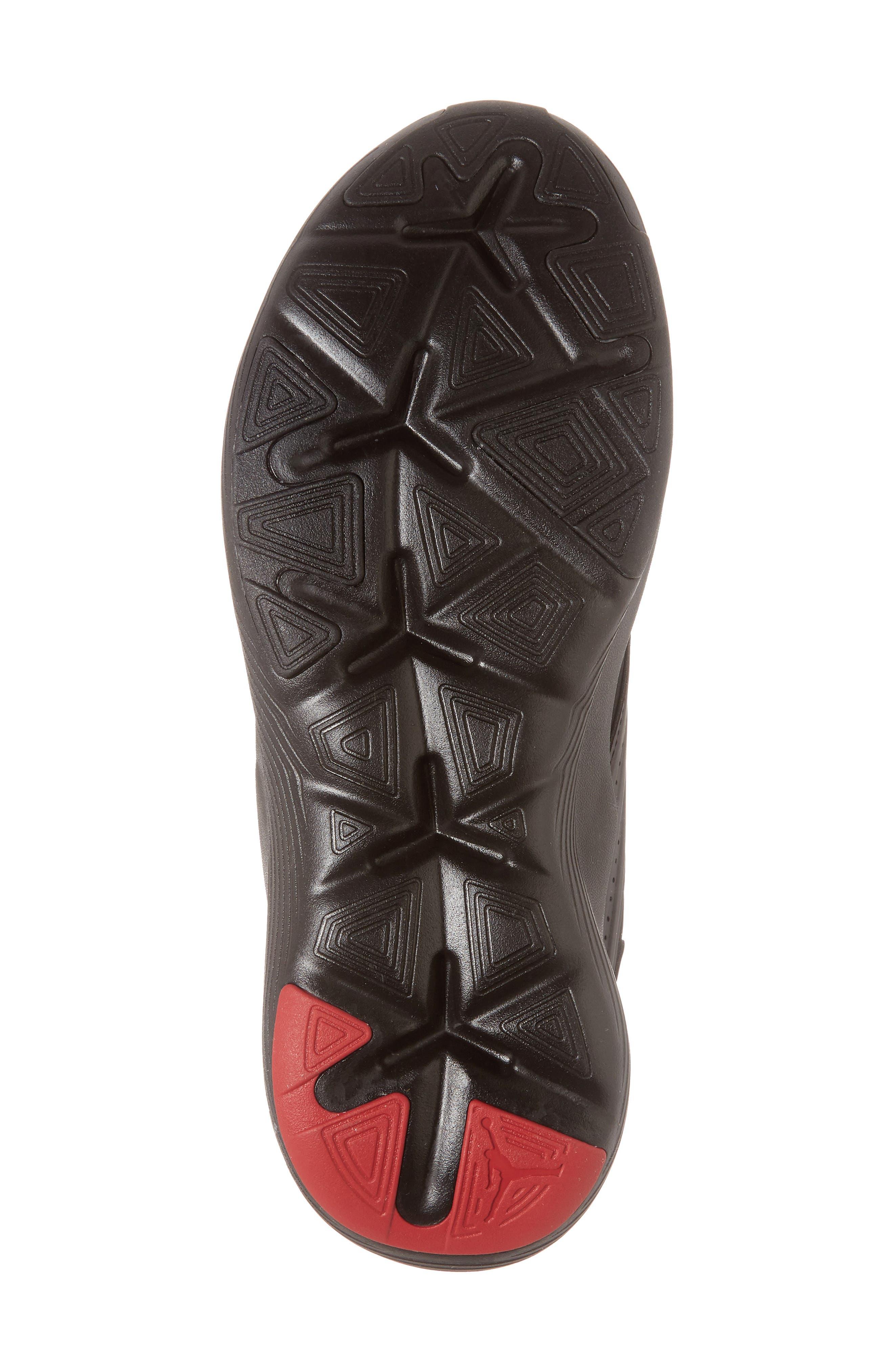 Air Jordan Relentless Training Sneaker,                             Alternate thumbnail 6, color,                             Black/ Varsity Red/ Dandelion
