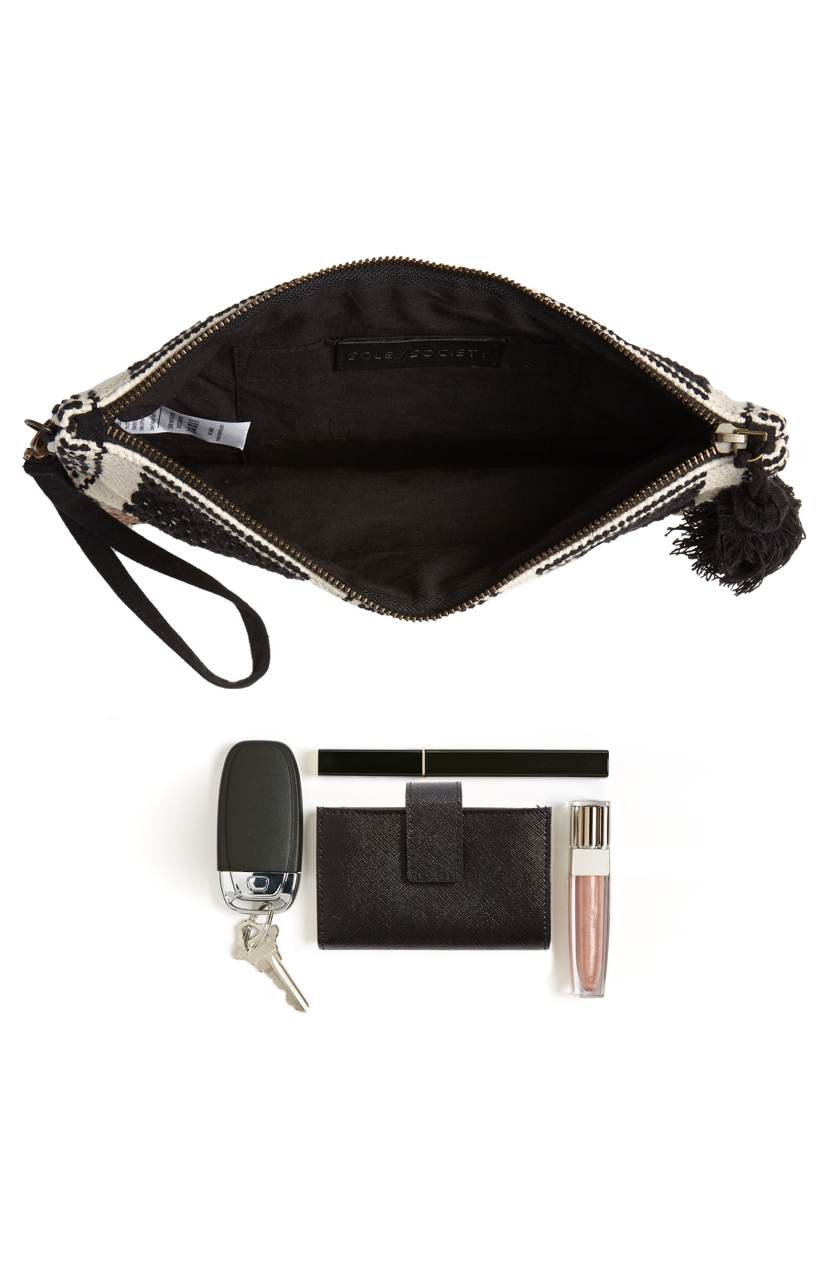 Fabric Clutch,                             Alternate thumbnail 7, color,