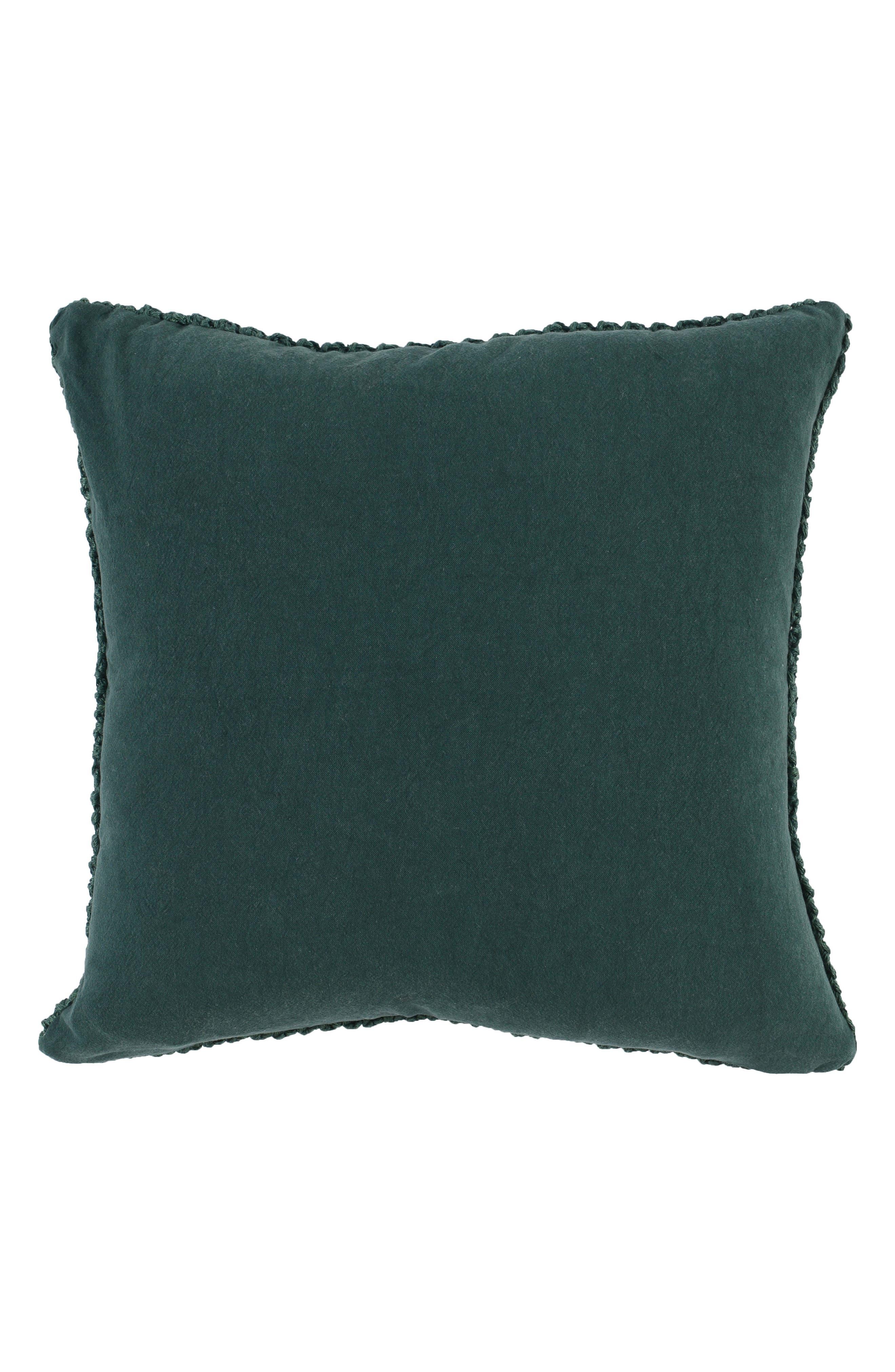 Nita Accent Pillow,                             Alternate thumbnail 2, color,                             Emerald Green