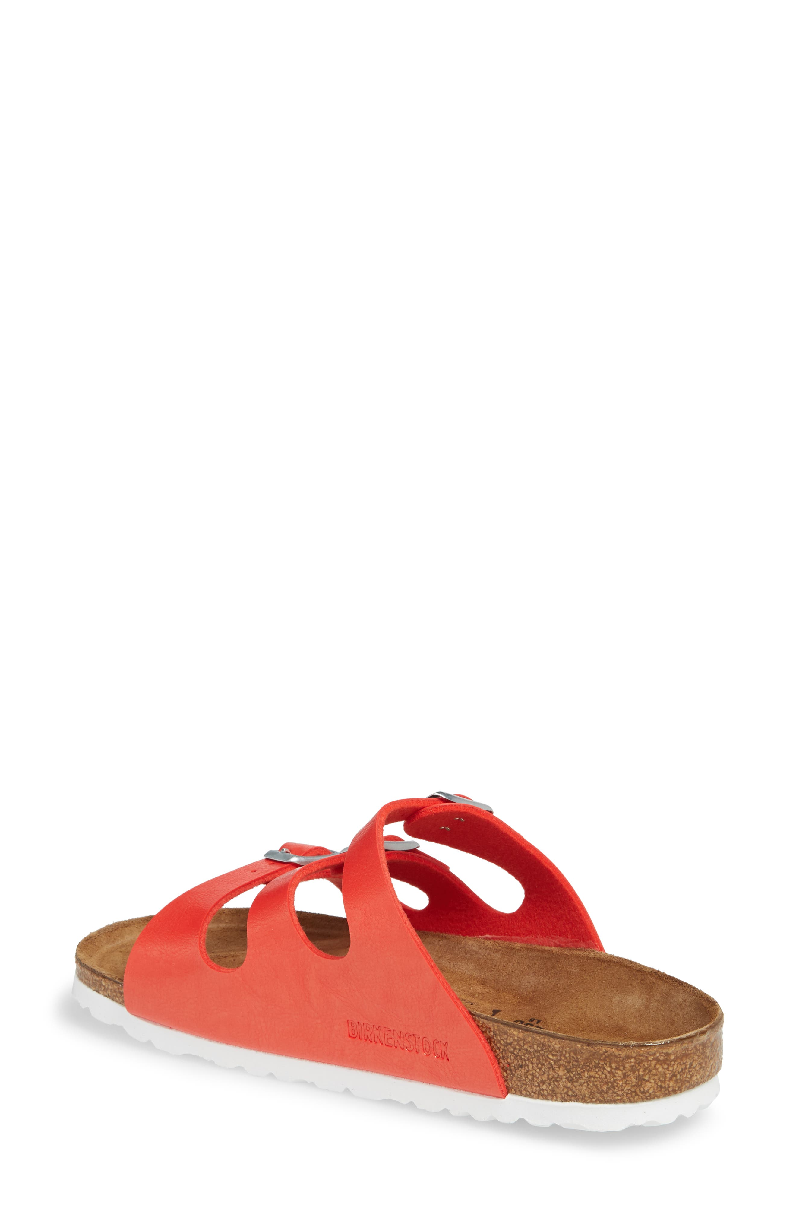 'Florida' Soft Footbed Sandal,                             Alternate thumbnail 2, color,                             Graceful Hibiscus Leather