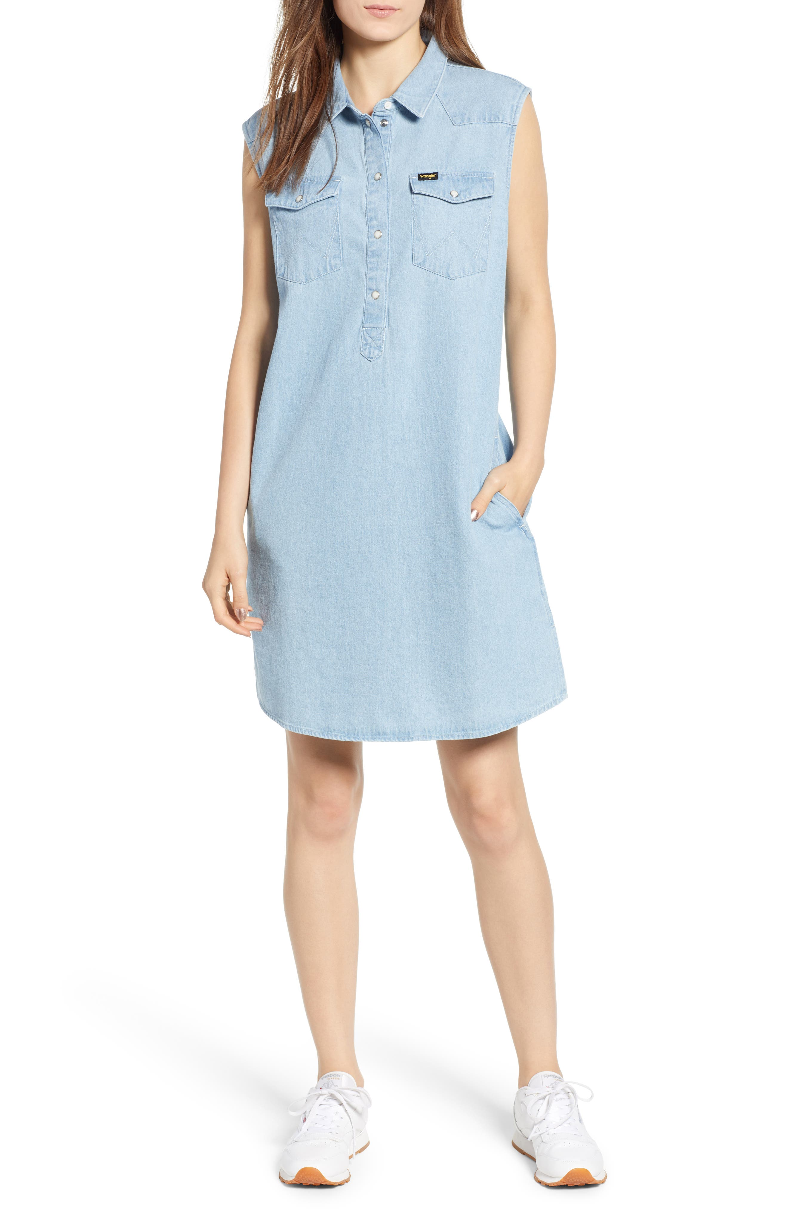 WRANGLER DENIM SHIFT DRESS