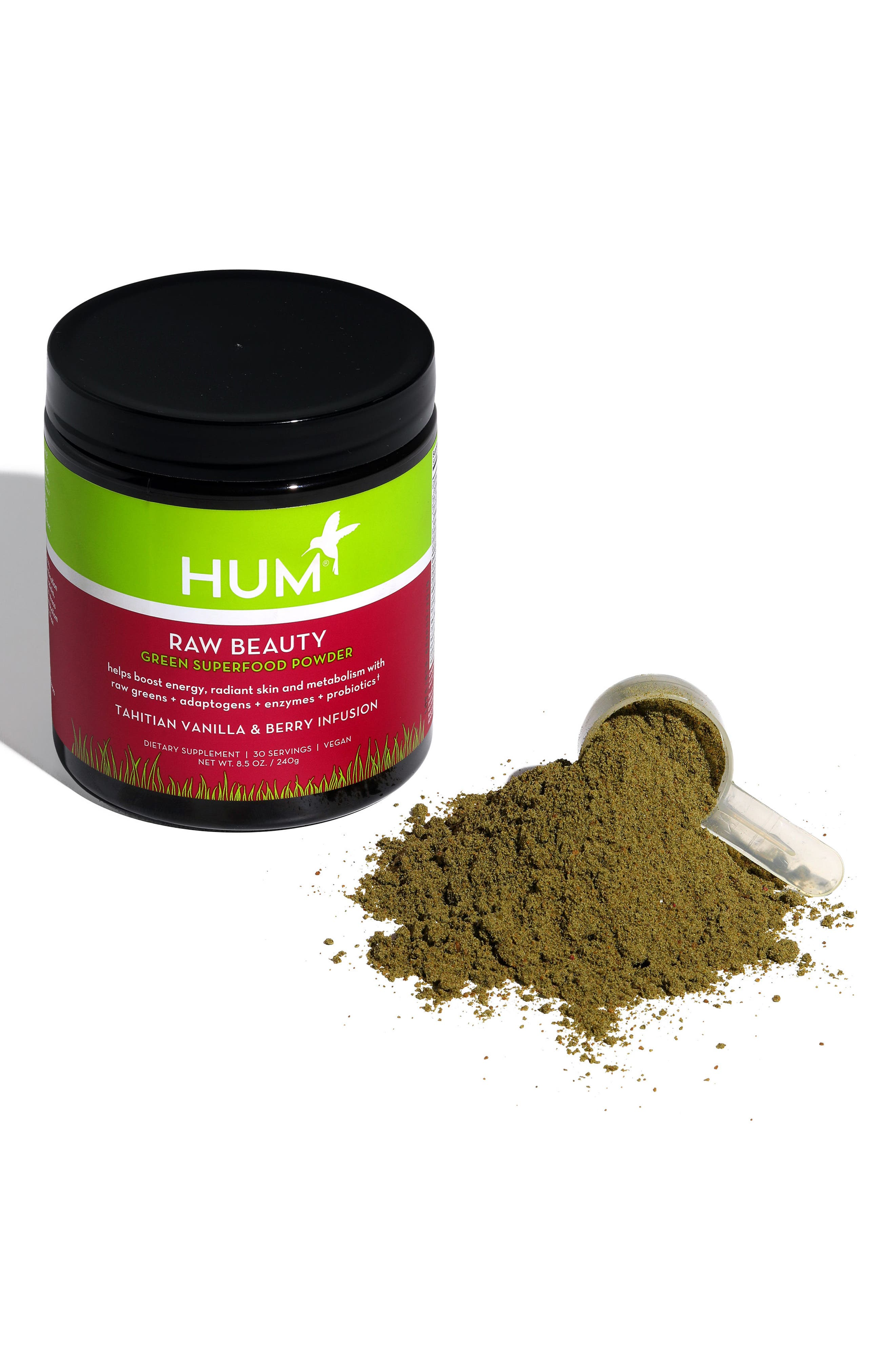Raw Beauty Tahitian Vanilla & Berry Infusion Skin & Energy Green Superfood Powder,                             Alternate thumbnail 5, color,                             No Color