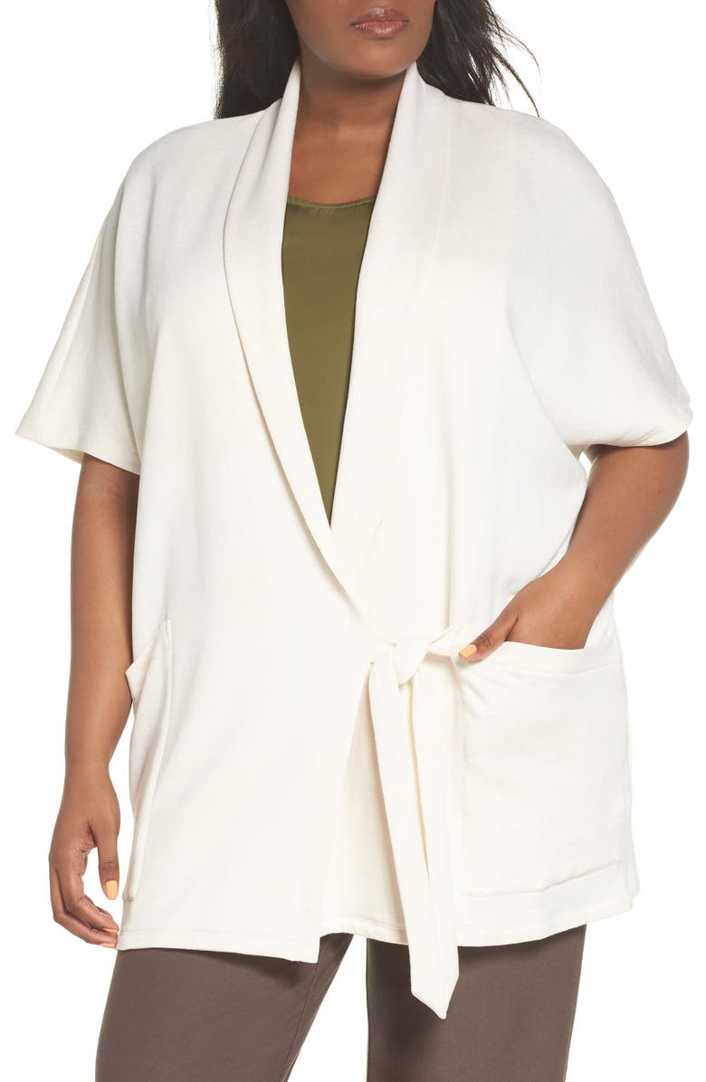 Organic Cotton Blend Kimono Jacket