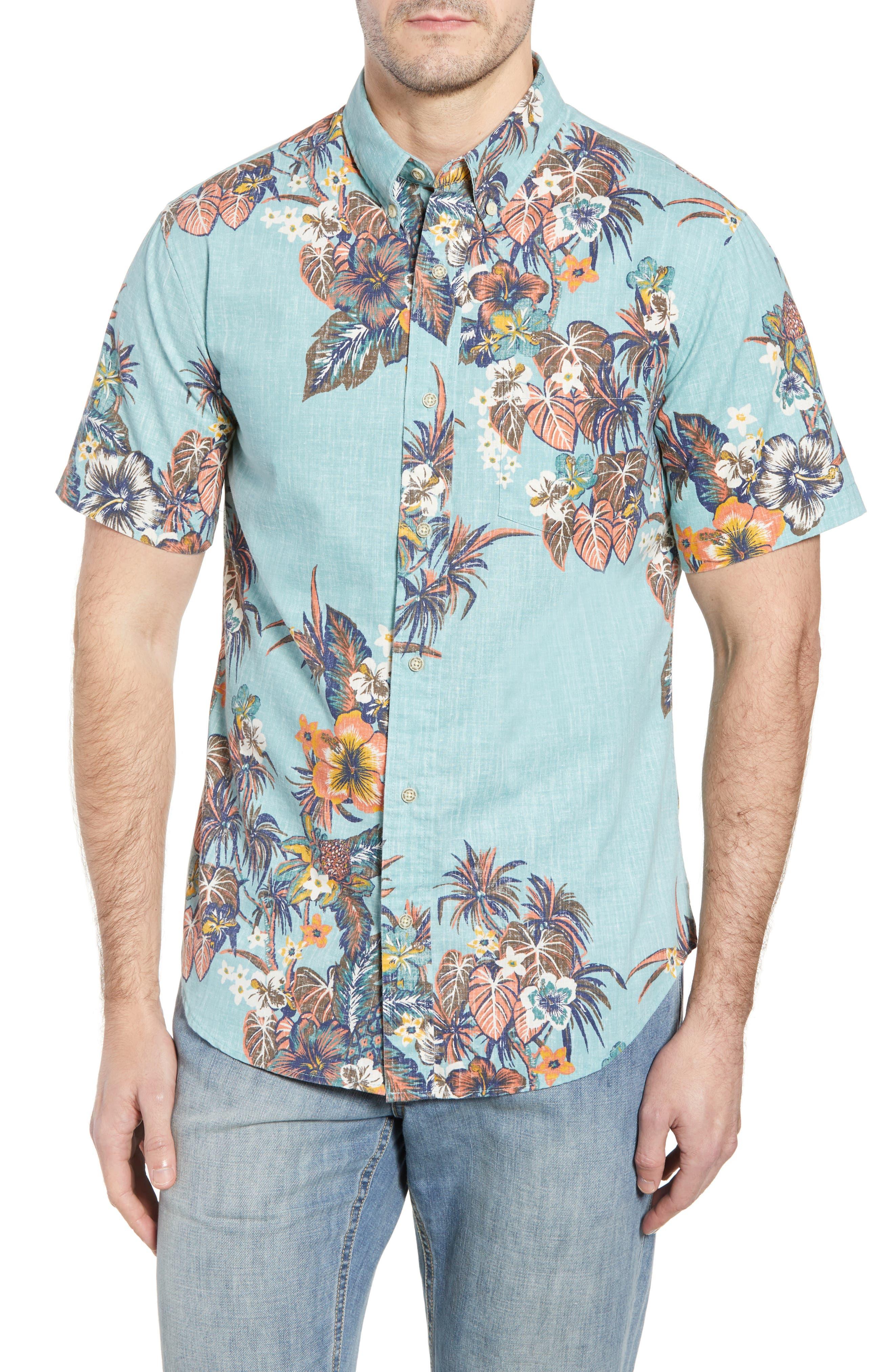 Pupas & Mai Tais Regular Fit Sport Shirt,                             Main thumbnail 1, color,                             Blue