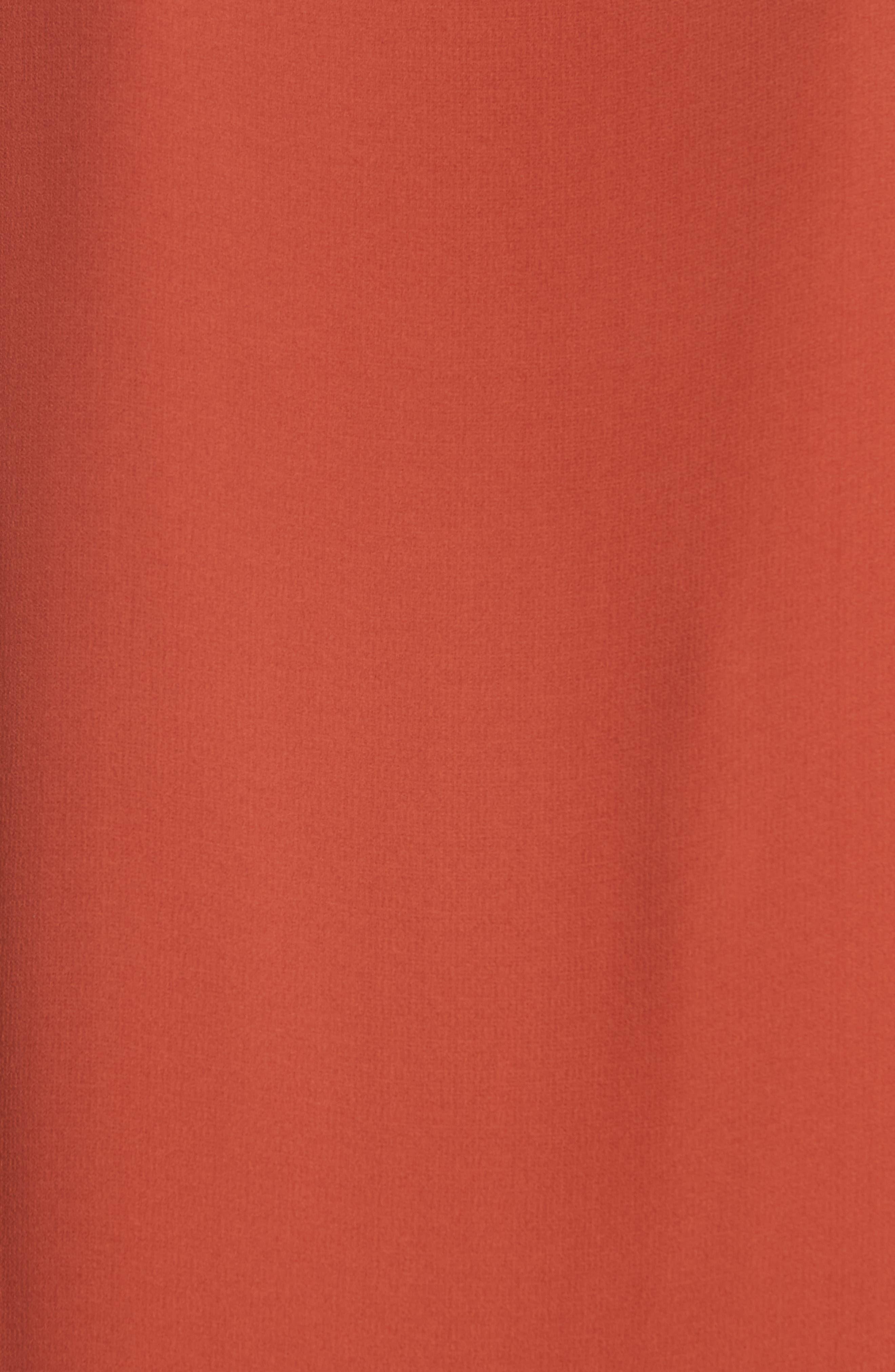 Long Bateau Neck Silk Shell,                             Alternate thumbnail 3, color,                             Orange Pekoe