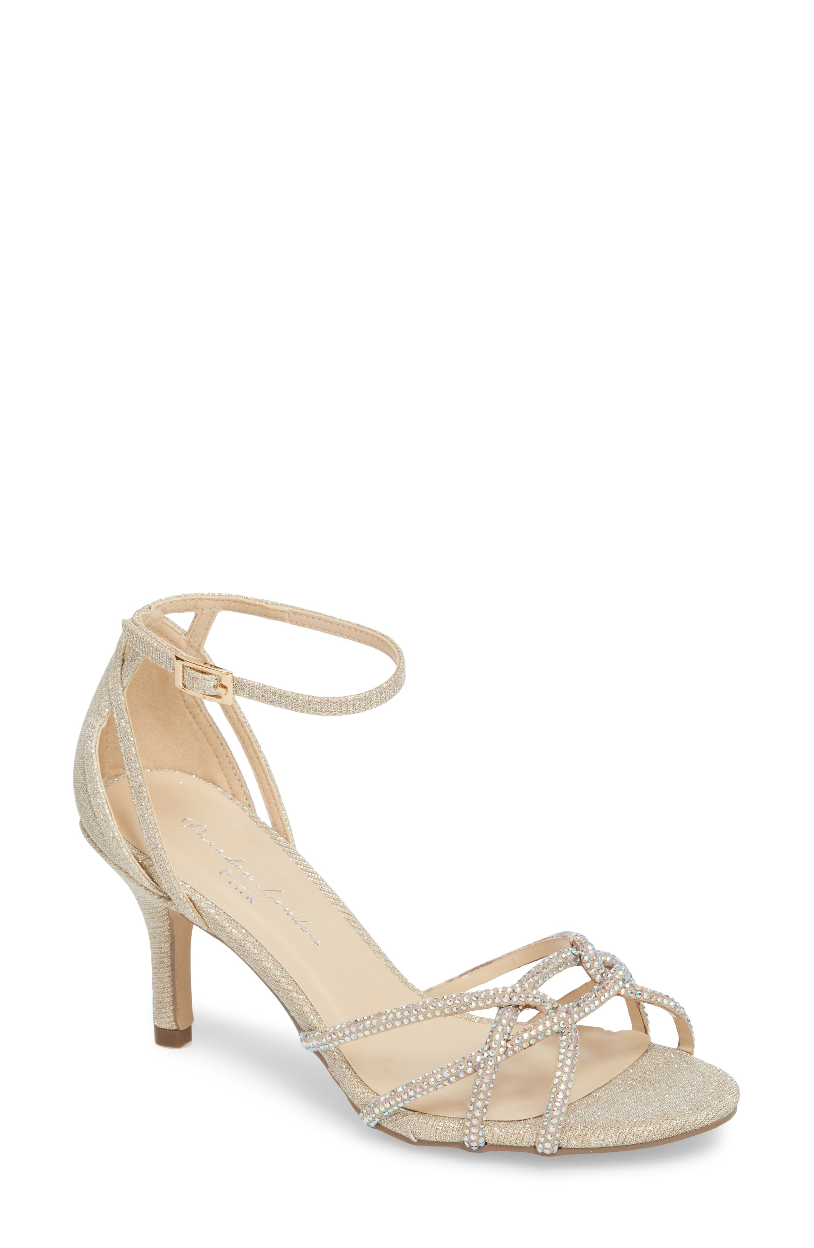 Majesty Sandal,                             Main thumbnail 1, color,                             Champagne Fabric