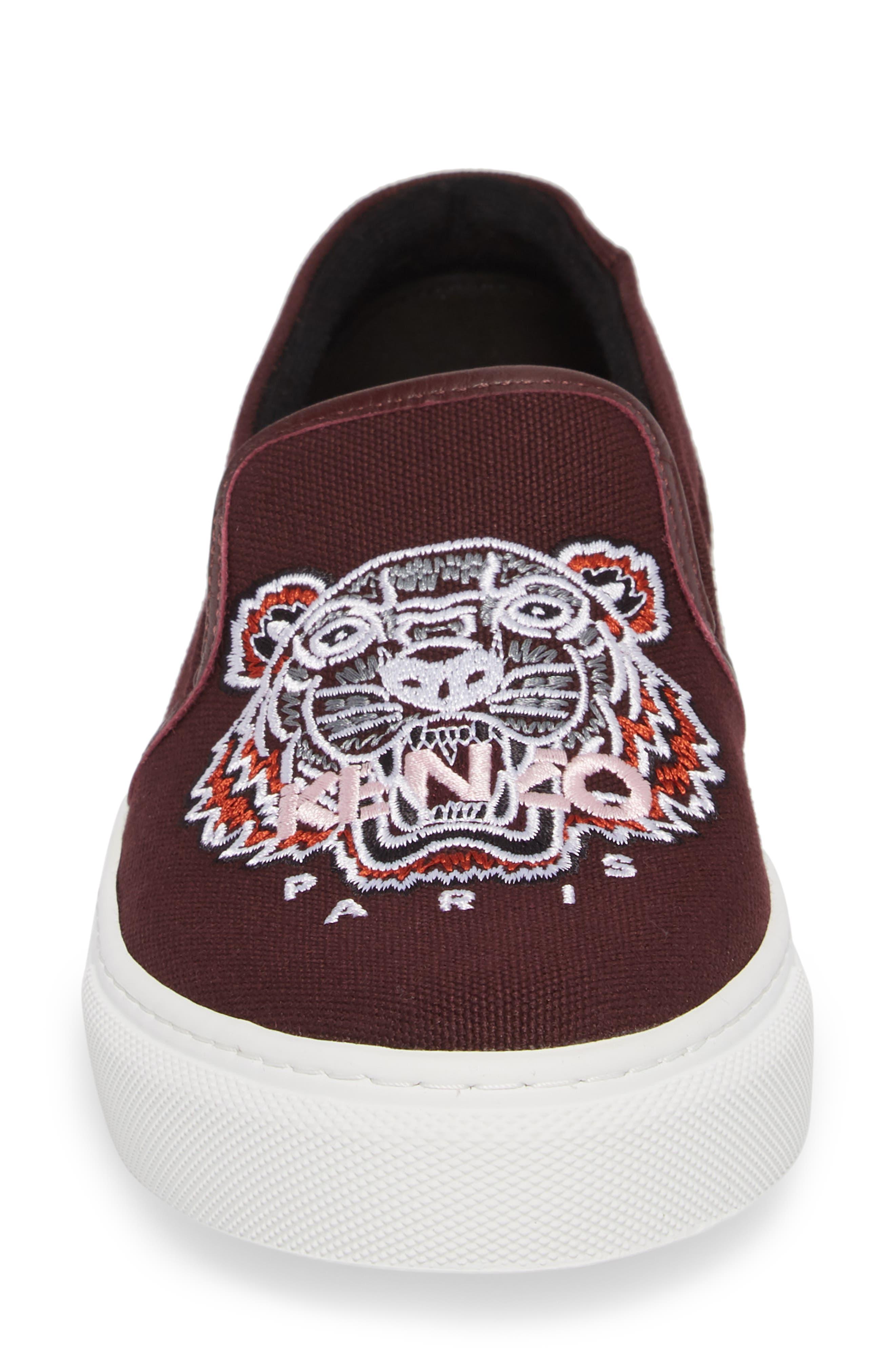 K Skate Embroidered Slip-On Sneaker,                             Alternate thumbnail 3, color,                             Bordeaux
