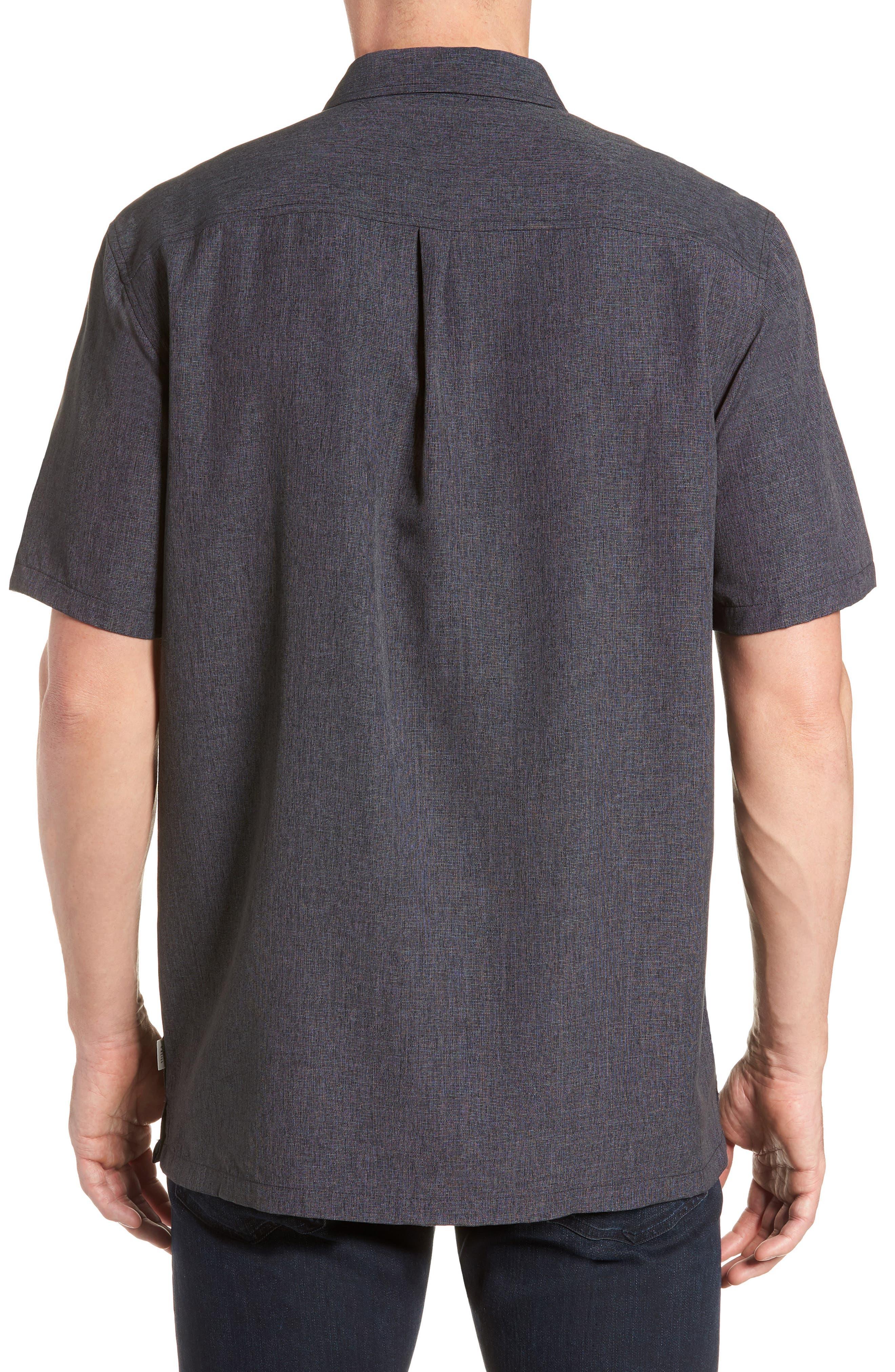 Liberty Regular Fit Short Sleeve Sport Shirt,                             Alternate thumbnail 3, color,                             Light Grey