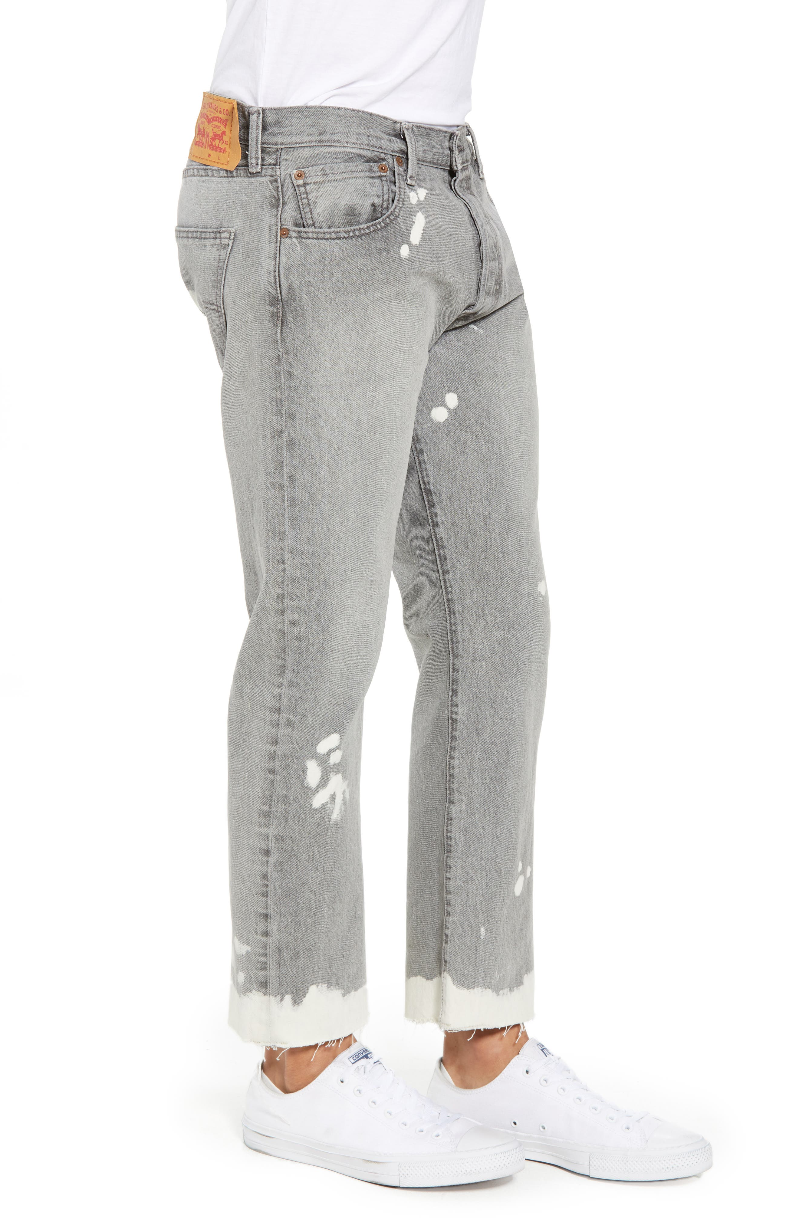 501<sup>™</sup> Straight Leg Jeans,                             Alternate thumbnail 3, color,                             Harris