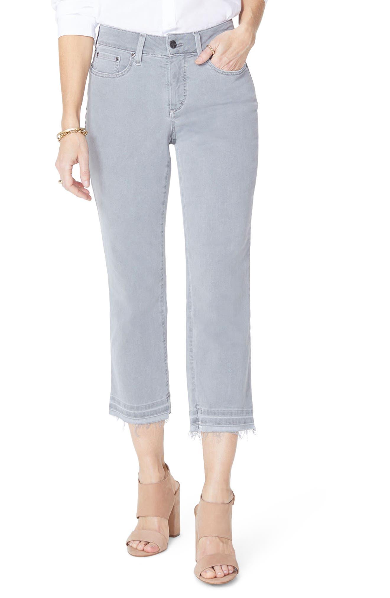 Release Hem Capri Skinny Jeans,                             Main thumbnail 1, color,                             Mineral Pigment