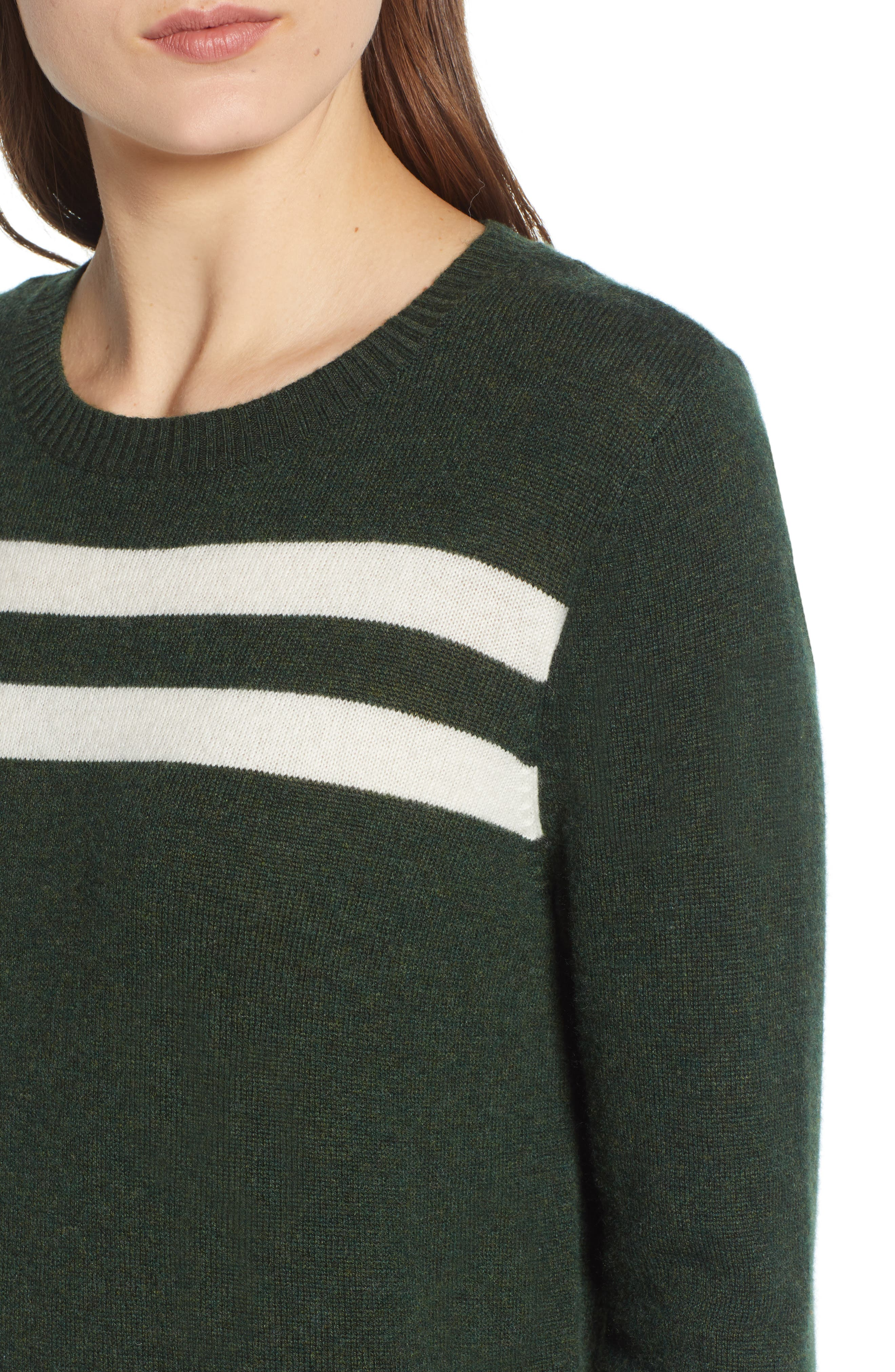 Marlowe Sweater,                             Alternate thumbnail 4, color,                             Eden/ White