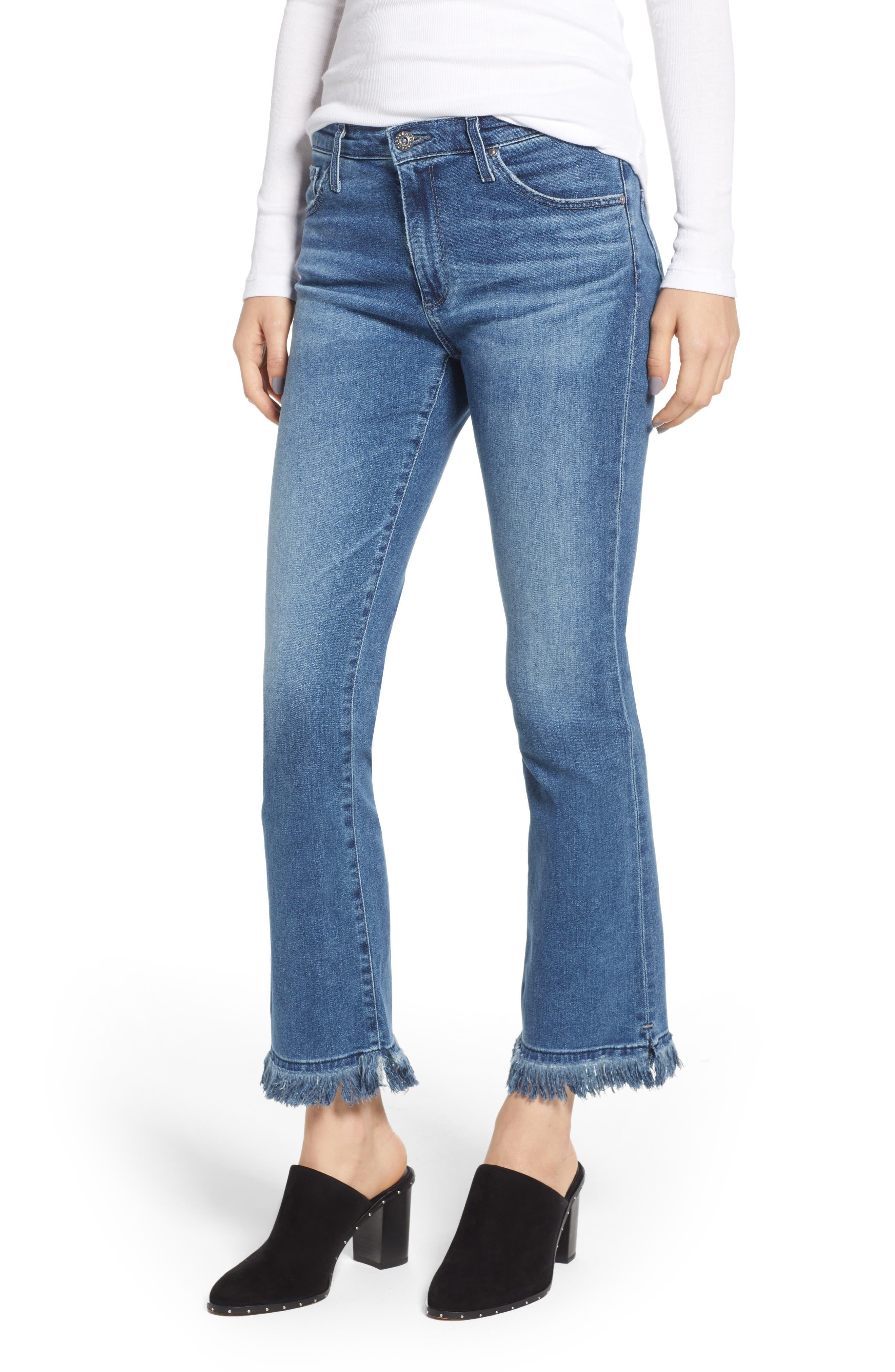 Jodi Crop Fringe Jeans,                             Main thumbnail 1, color,                             Pastoral Plains