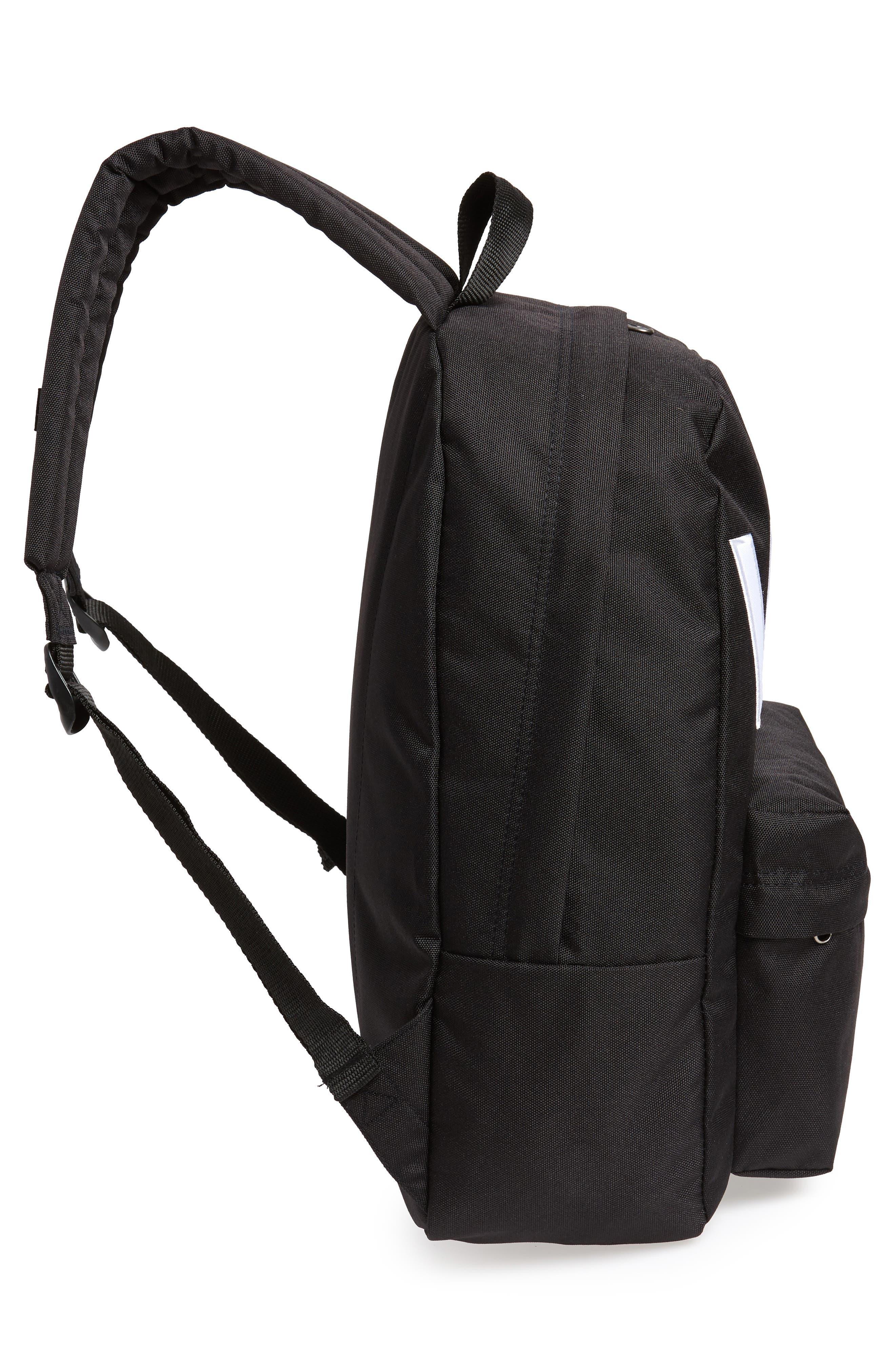 Old Skool II Backpack,                             Alternate thumbnail 5, color,                             Black/ White