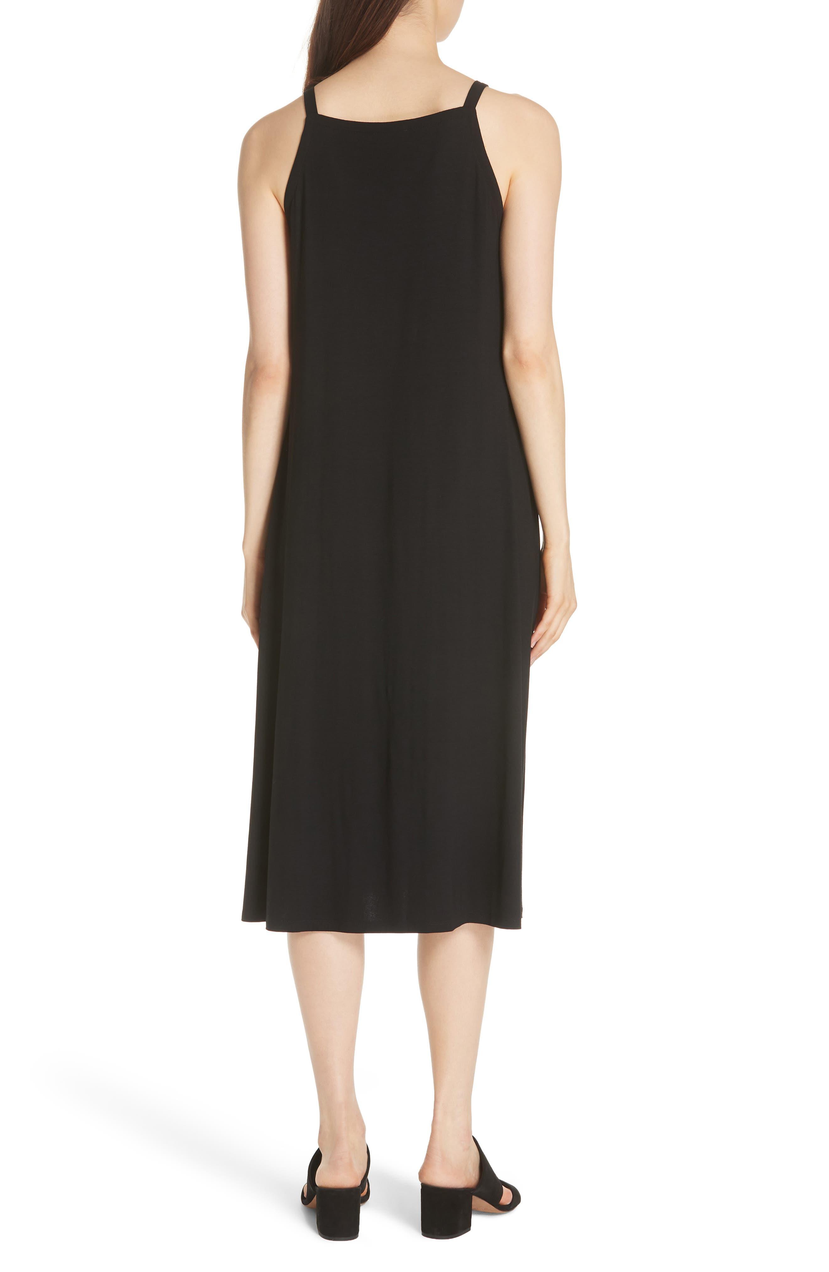 Cami Dress,                             Alternate thumbnail 2, color,                             Black