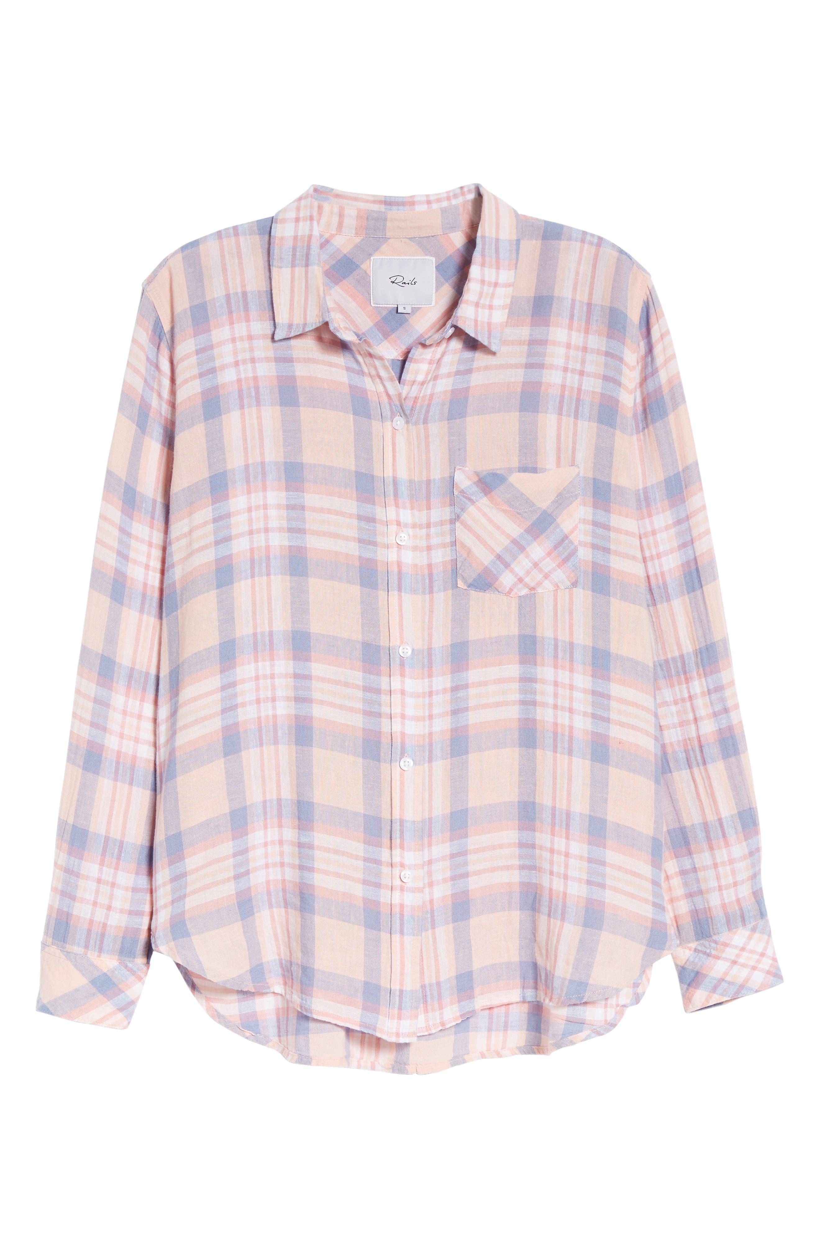 Charli Shirt,                             Alternate thumbnail 7, color,                             Peach Blush Blue