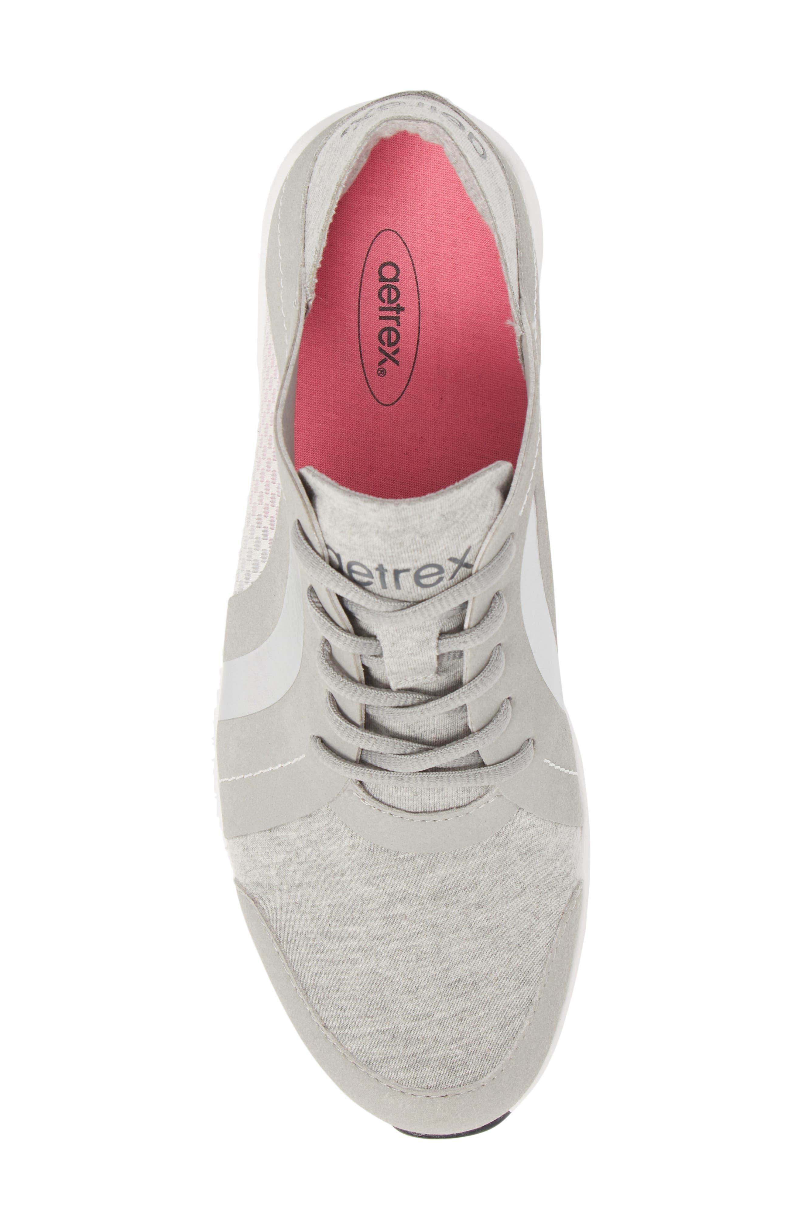 Sloane Sneaker,                             Alternate thumbnail 5, color,                             Grey Fabric