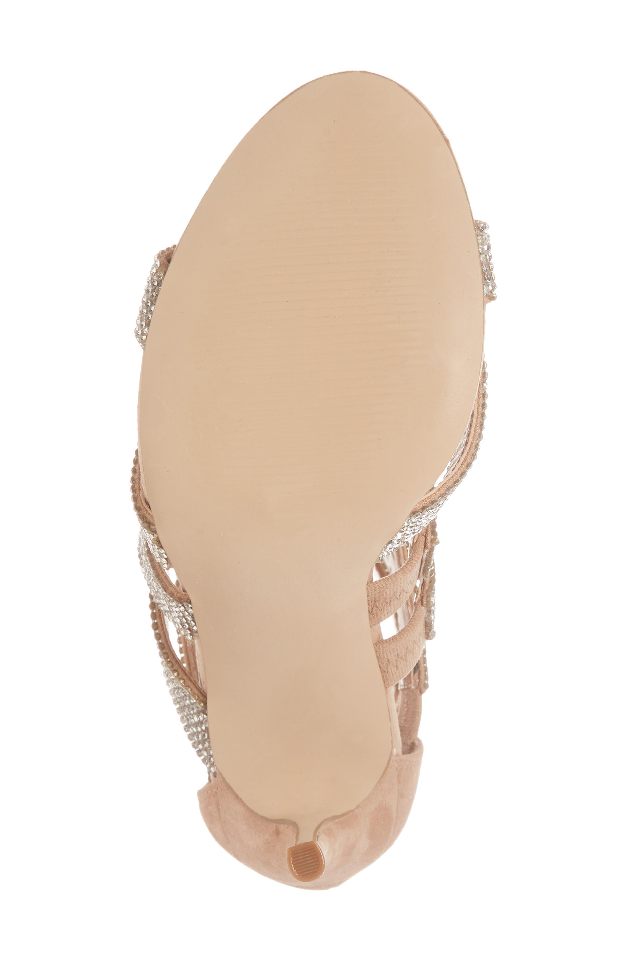 Malika Crystal Embellished Sandal,                             Alternate thumbnail 4, color,                             Rhinestone