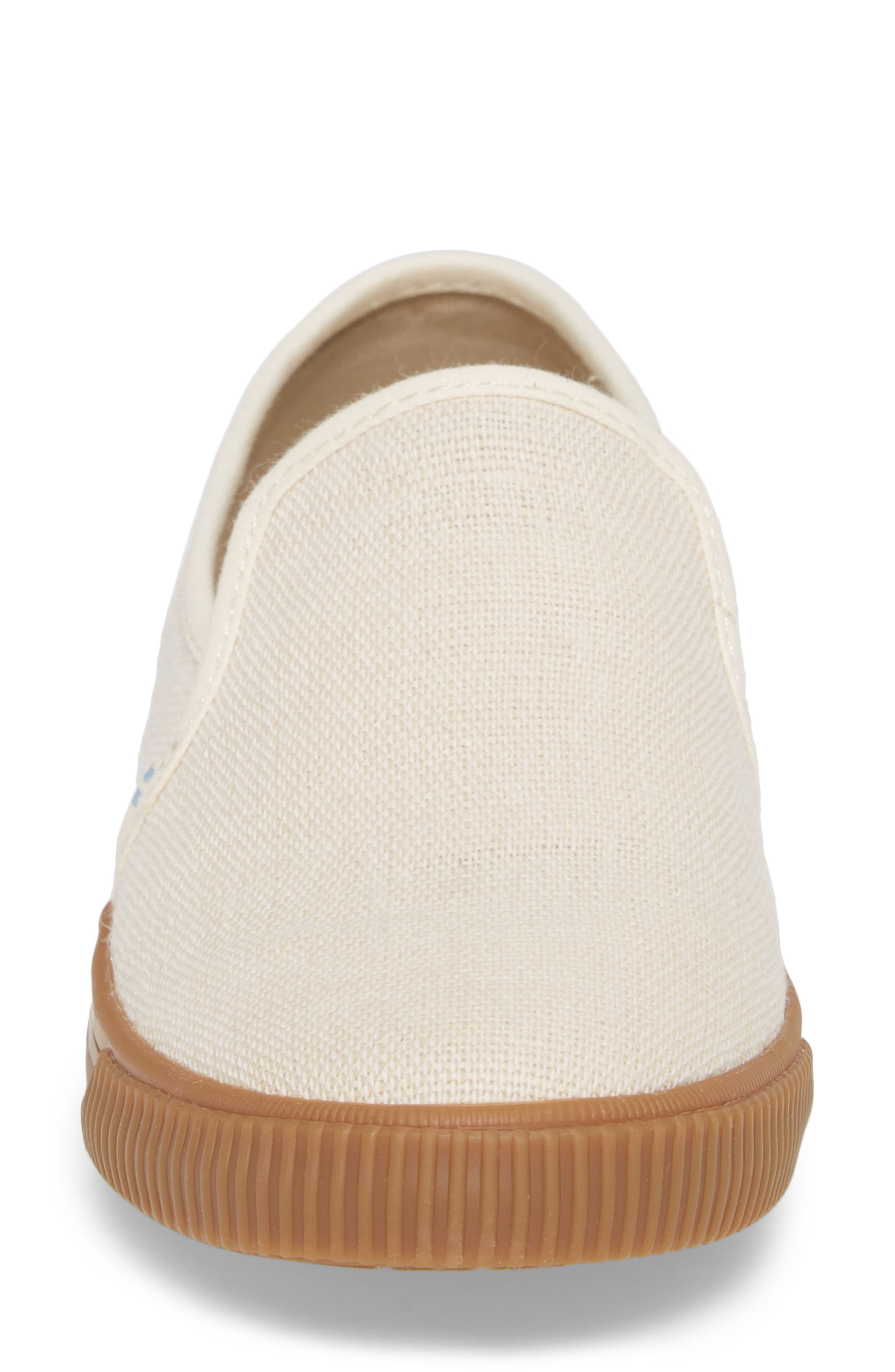 Clemente Slip-On,                             Alternate thumbnail 4, color,                             Birch Heritage Canvas
