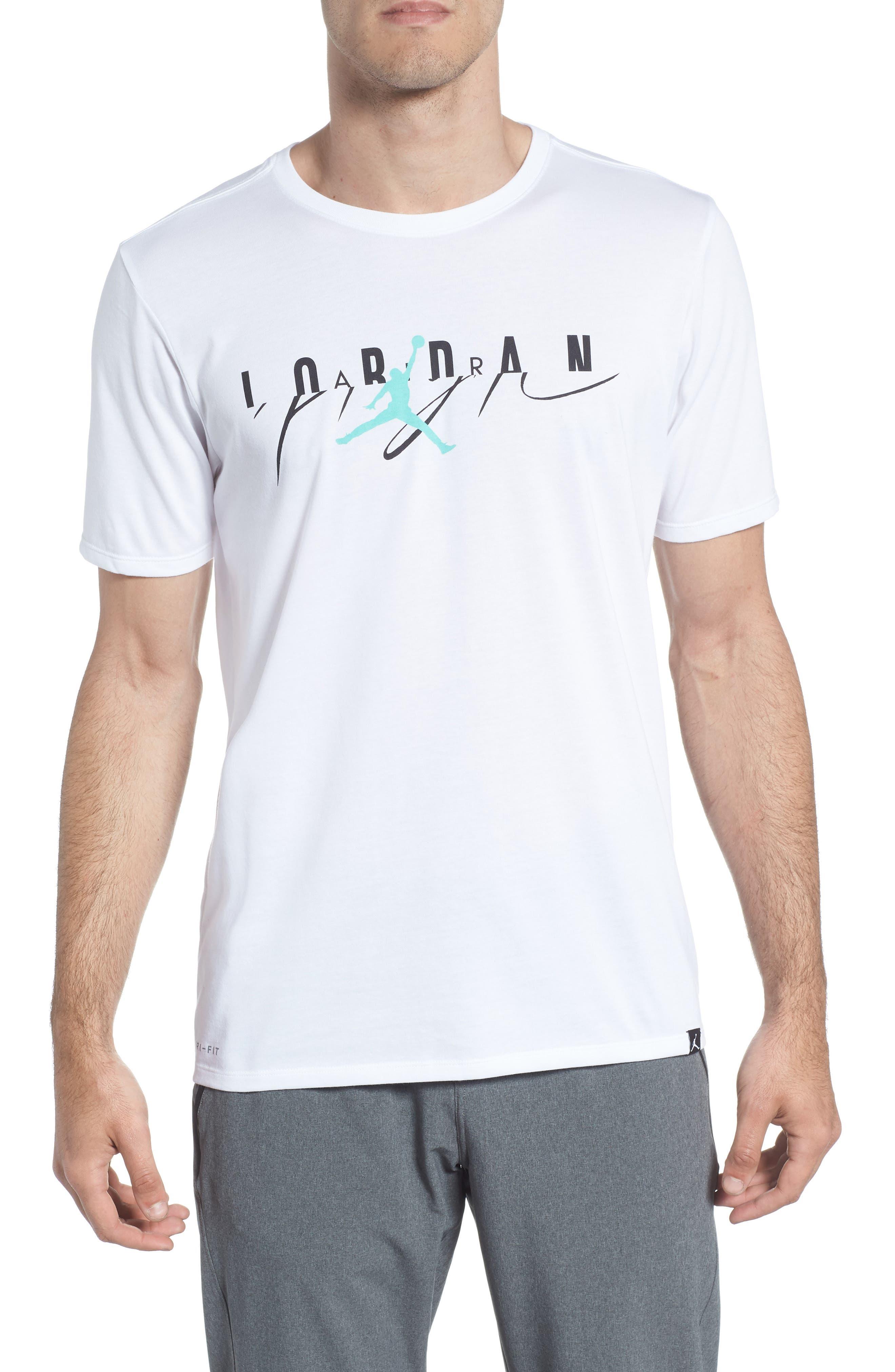 Flight Mash-Up T-Shirt,                             Main thumbnail 1, color,                             White/ Emerald Rise