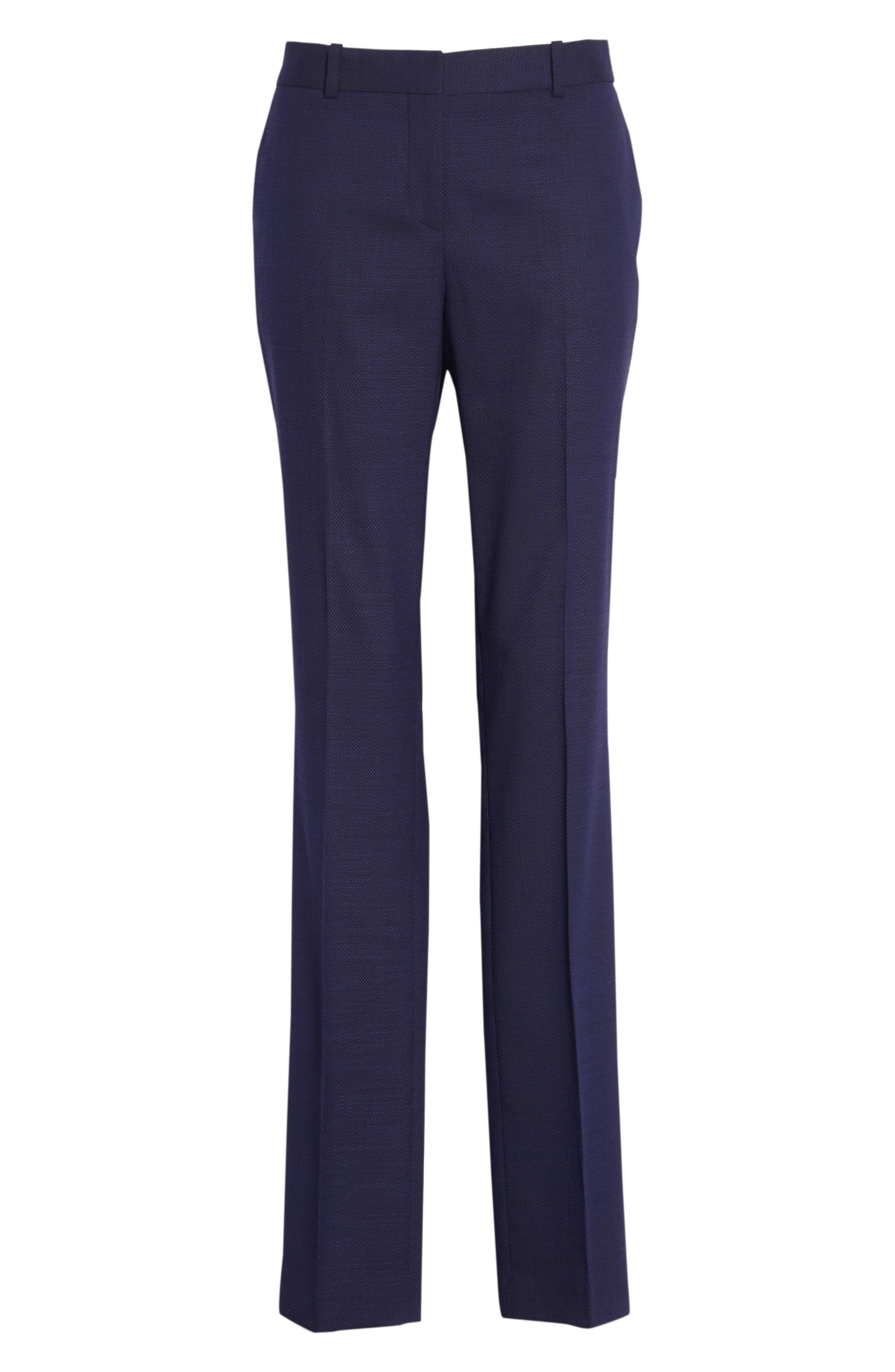 Titana Mini Glencheck Straight Leg Suit Pants,                             Alternate thumbnail 7, color,                             Deep Lilac Fantasy