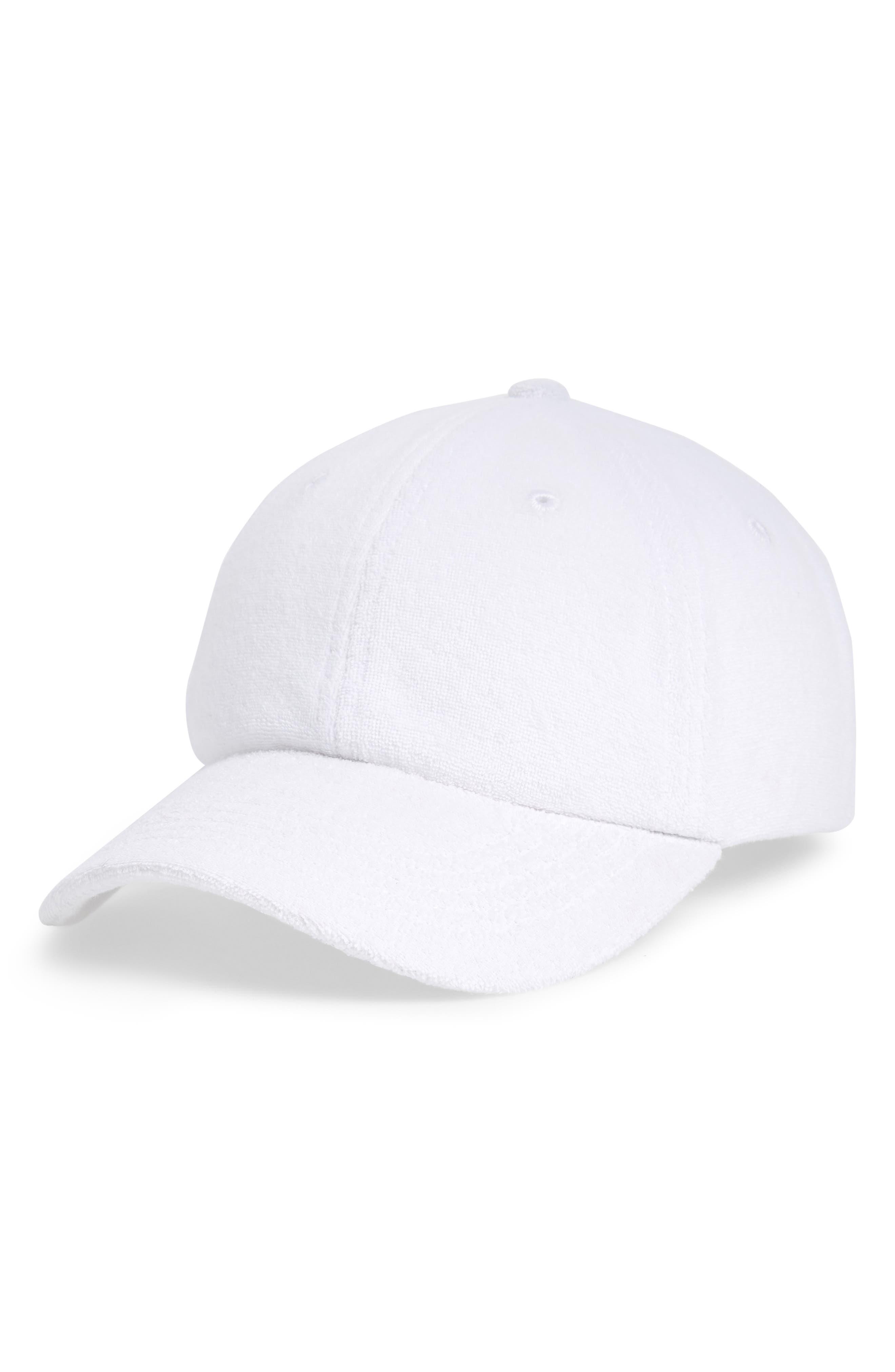 Terry Baseball Hat,                             Main thumbnail 1, color,                             White