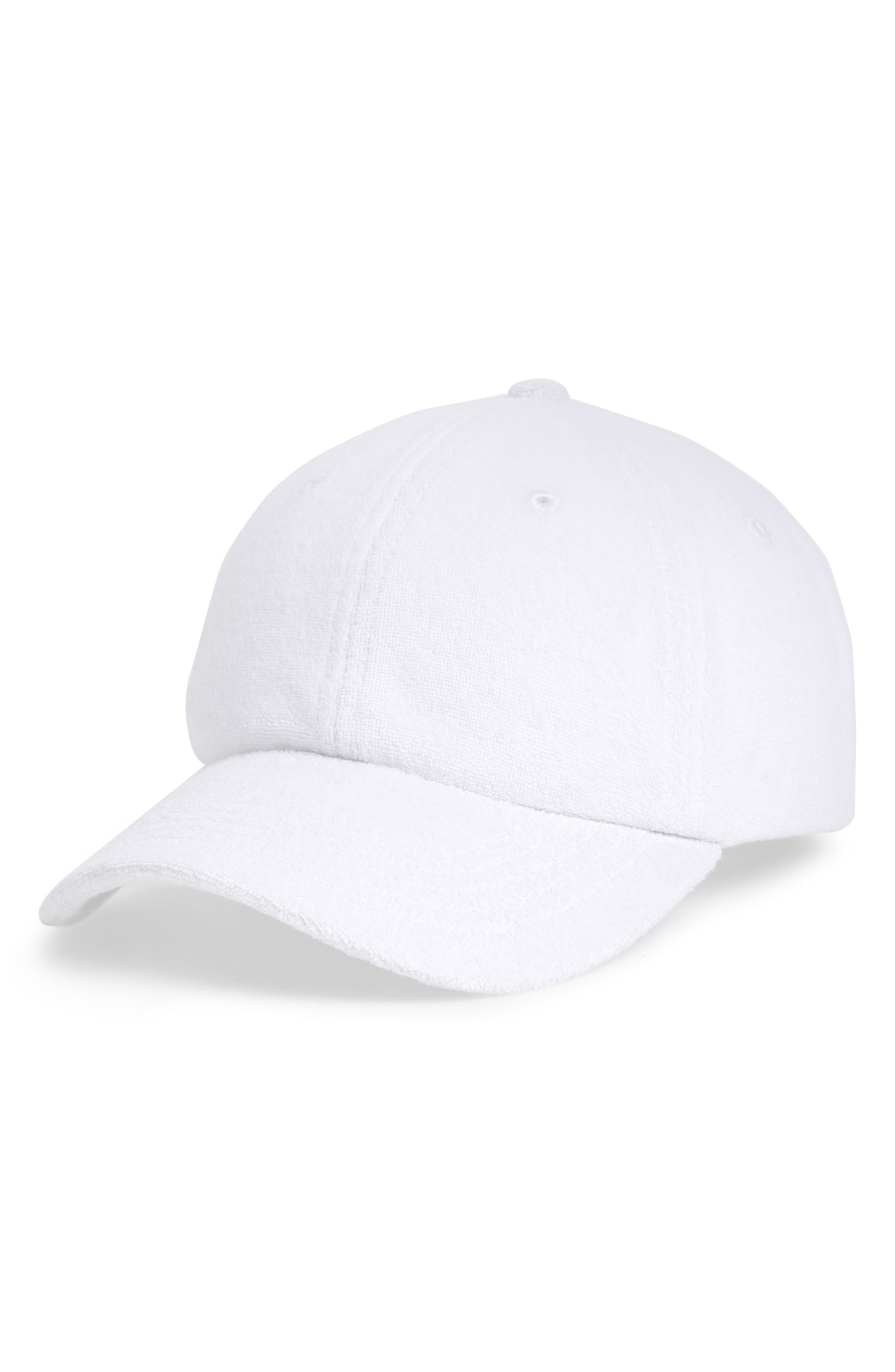 Terry Baseball Hat,                         Main,                         color, White