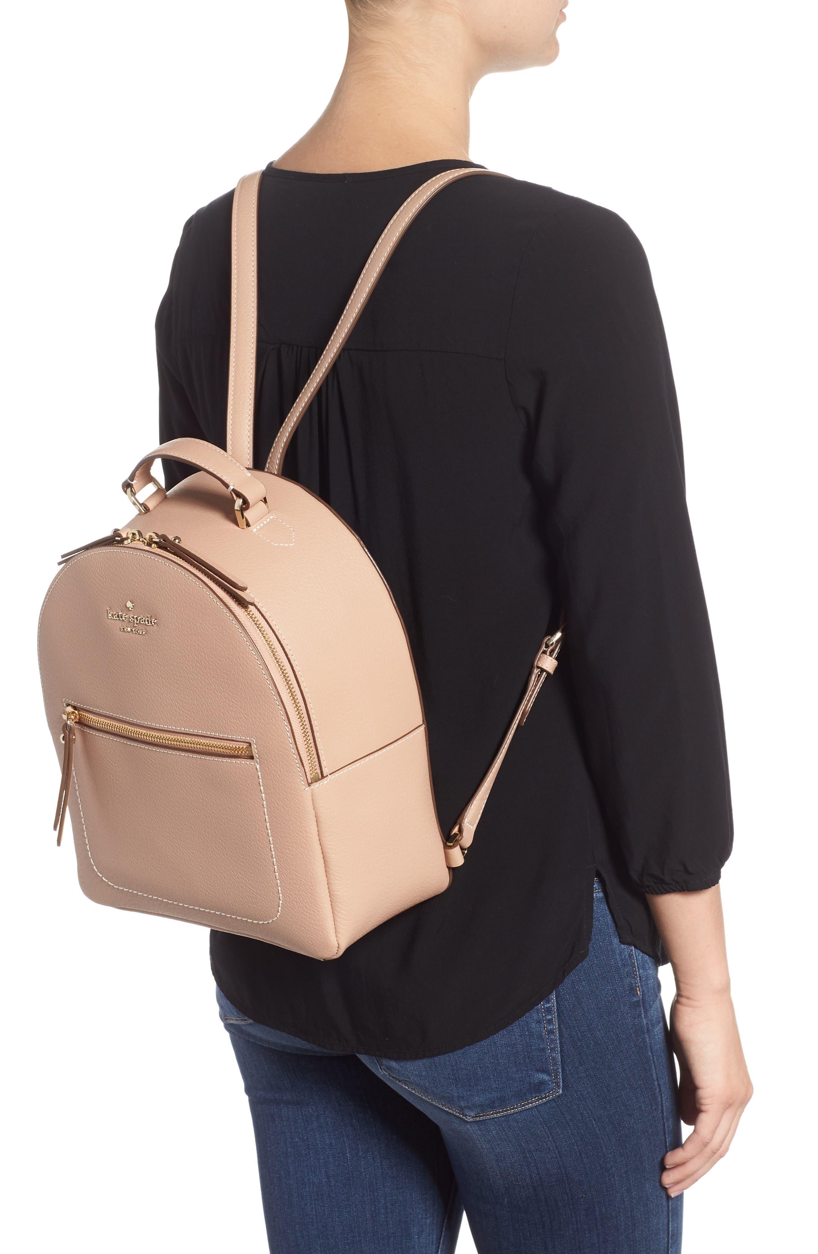 thompson street - brooke leather backpack,                             Alternate thumbnail 2, color,                             Ginger Tea