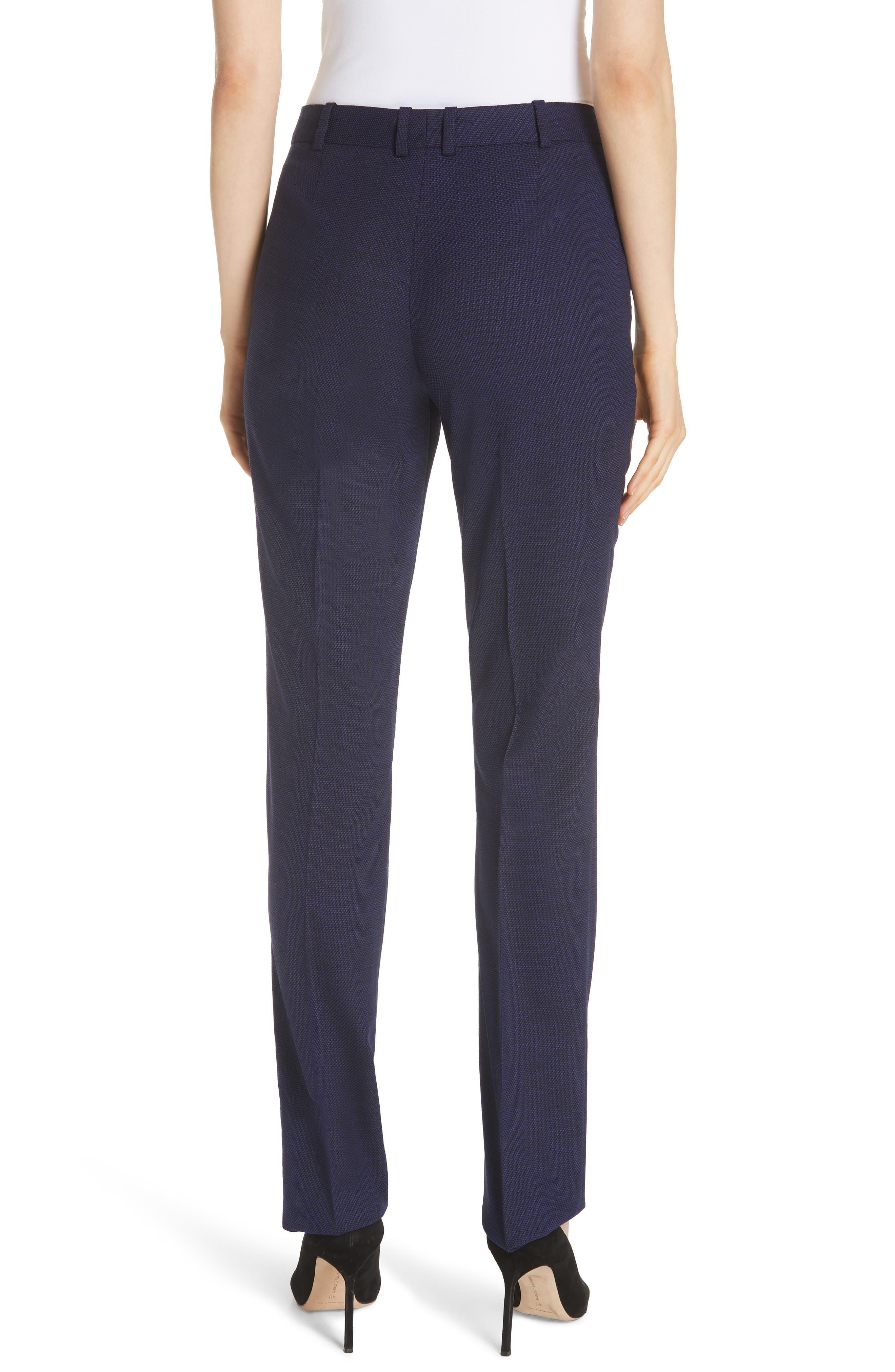Titana Mini Glencheck Straight Leg Suit Pants,                             Alternate thumbnail 2, color,                             Deep Lilac Fantasy