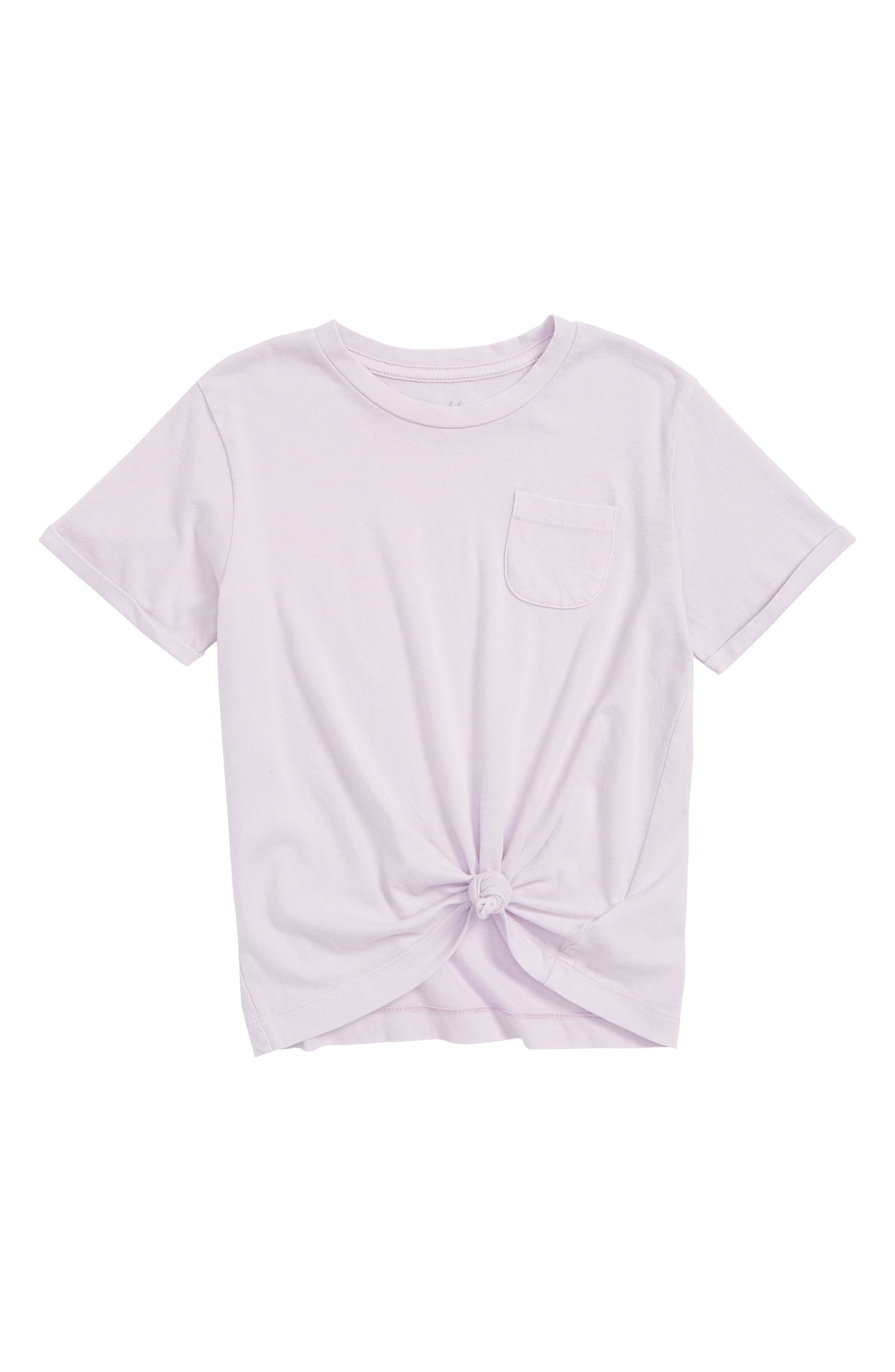 Tie Knot Pocket Tee,                             Main thumbnail 1, color,                             Purple