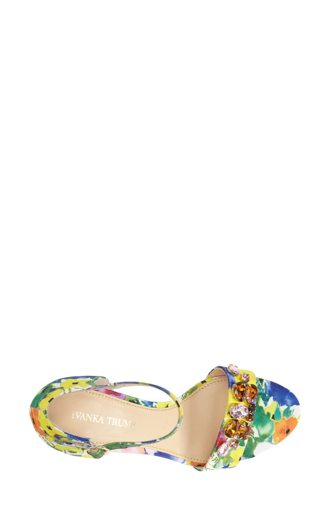 Alternate Image 3  - Ivanka Trump 'Gessa' Crystal Embellished Print Sandal (Women)