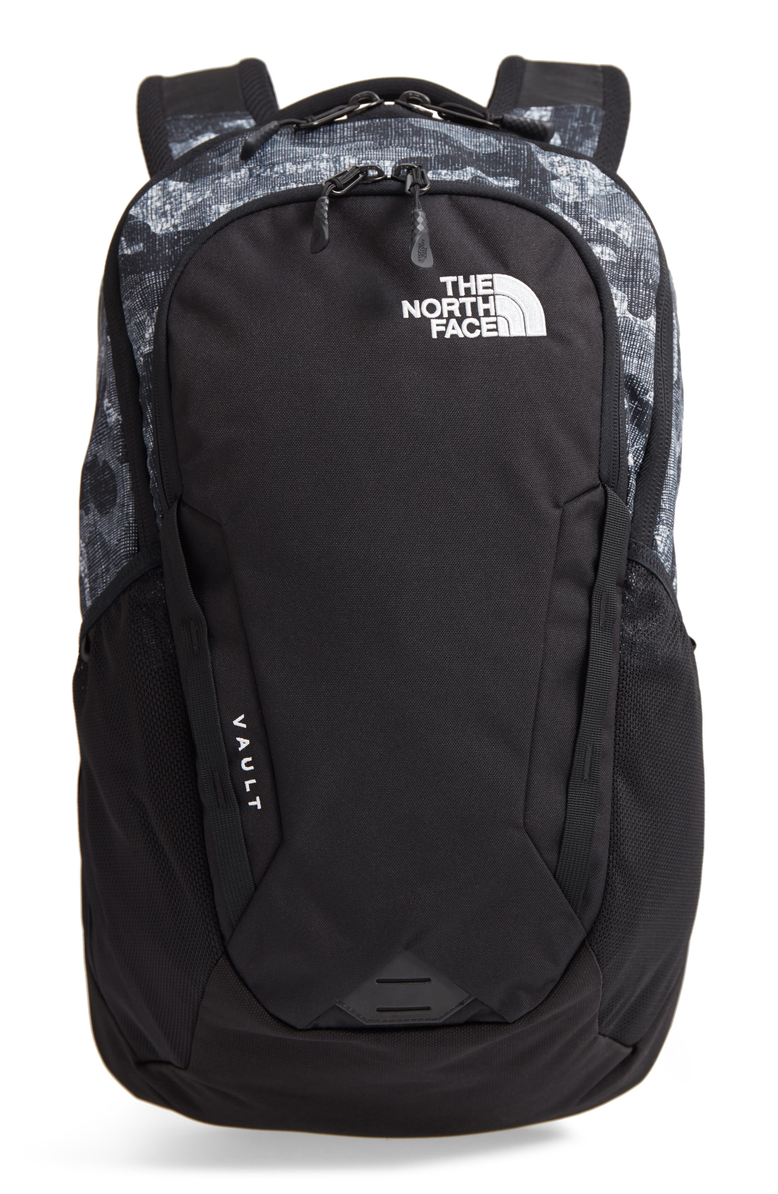 Vault Backpack,                         Main,                         color, Tnf Black Textured Camo Print