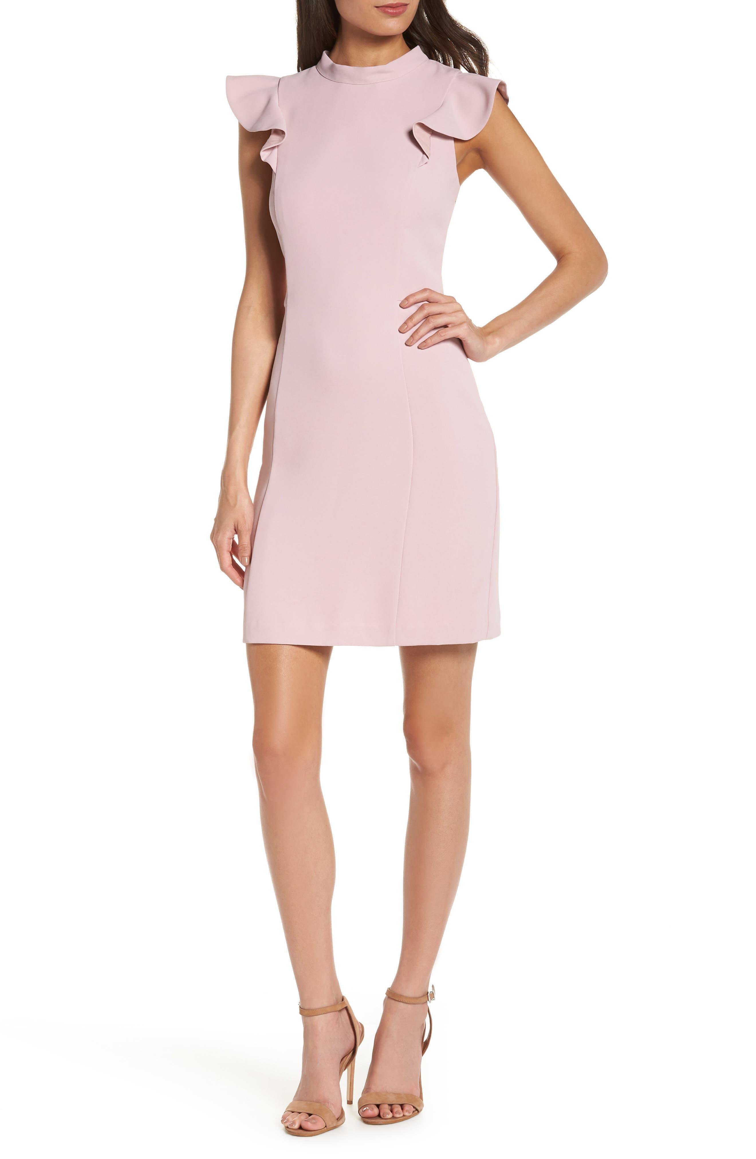 ADELYN RAE Ina Ruffle Dress, Lilac