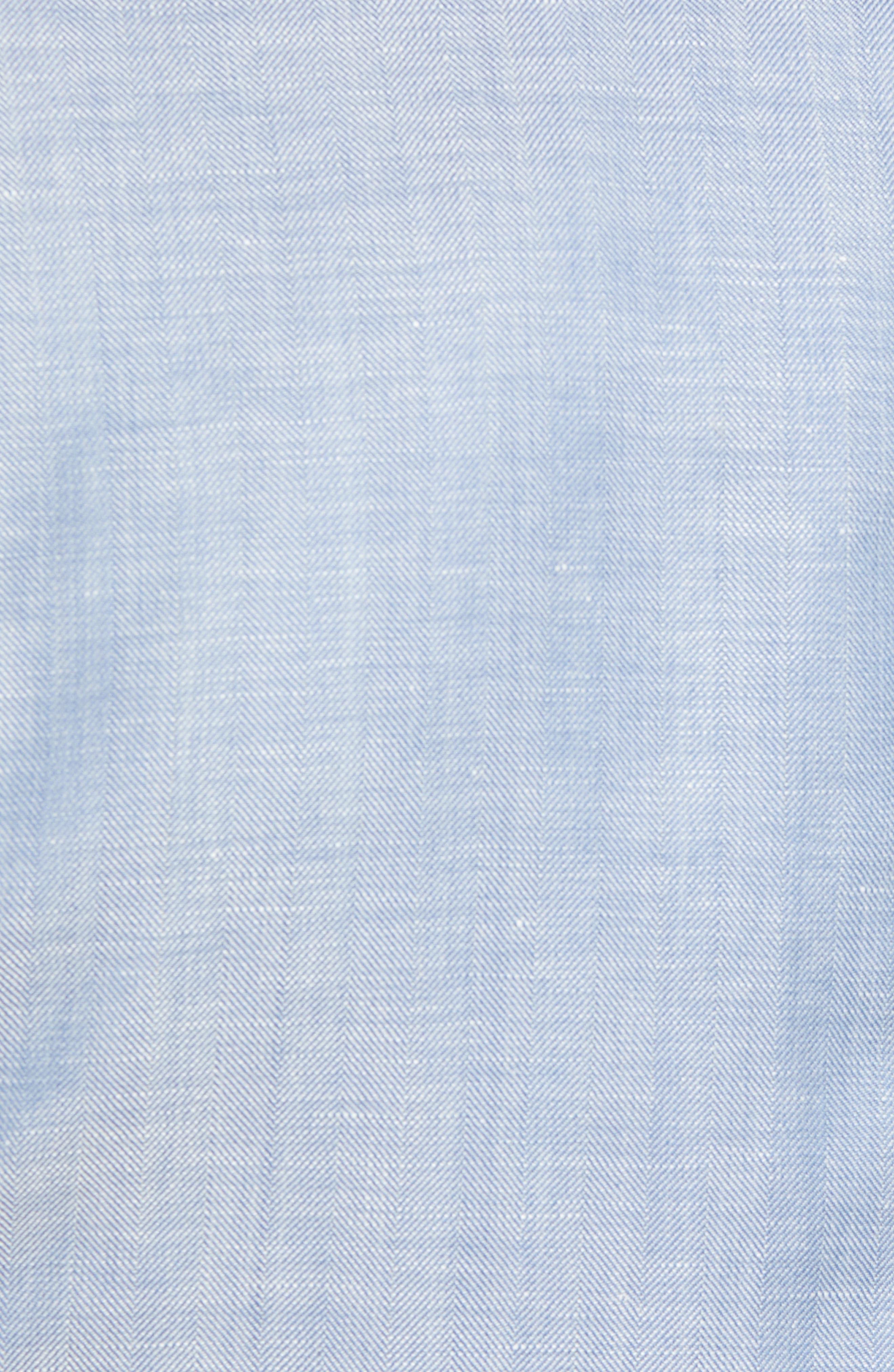 Traditional Fit Herringbone Wool & Linen Sport Coat,                             Alternate thumbnail 4, color,                             Blue
