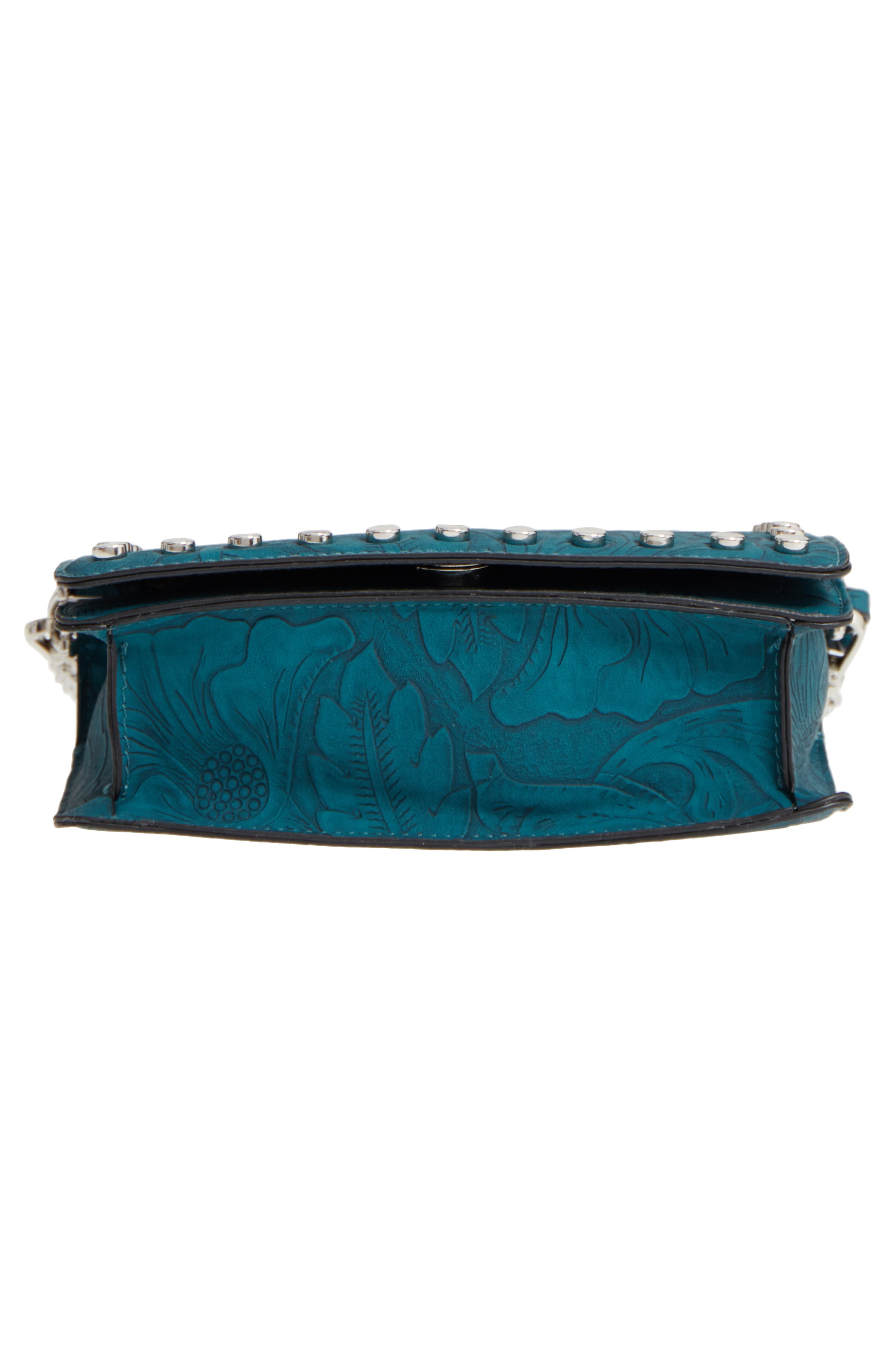 Hawna Faux Leather Crossbody,                             Alternate thumbnail 6, color,                             Teal
