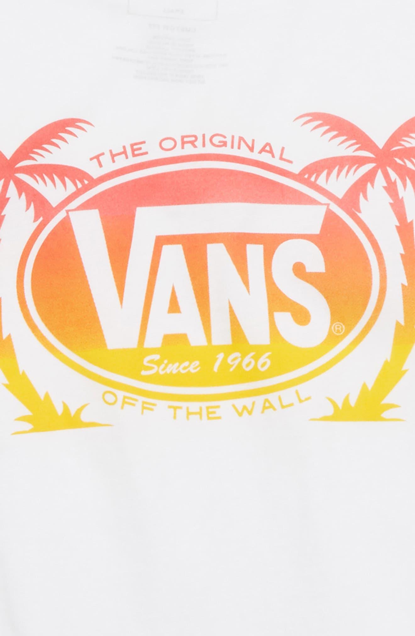 Palm Logo Graphic T-Shirt,                             Alternate thumbnail 3, color,                             White