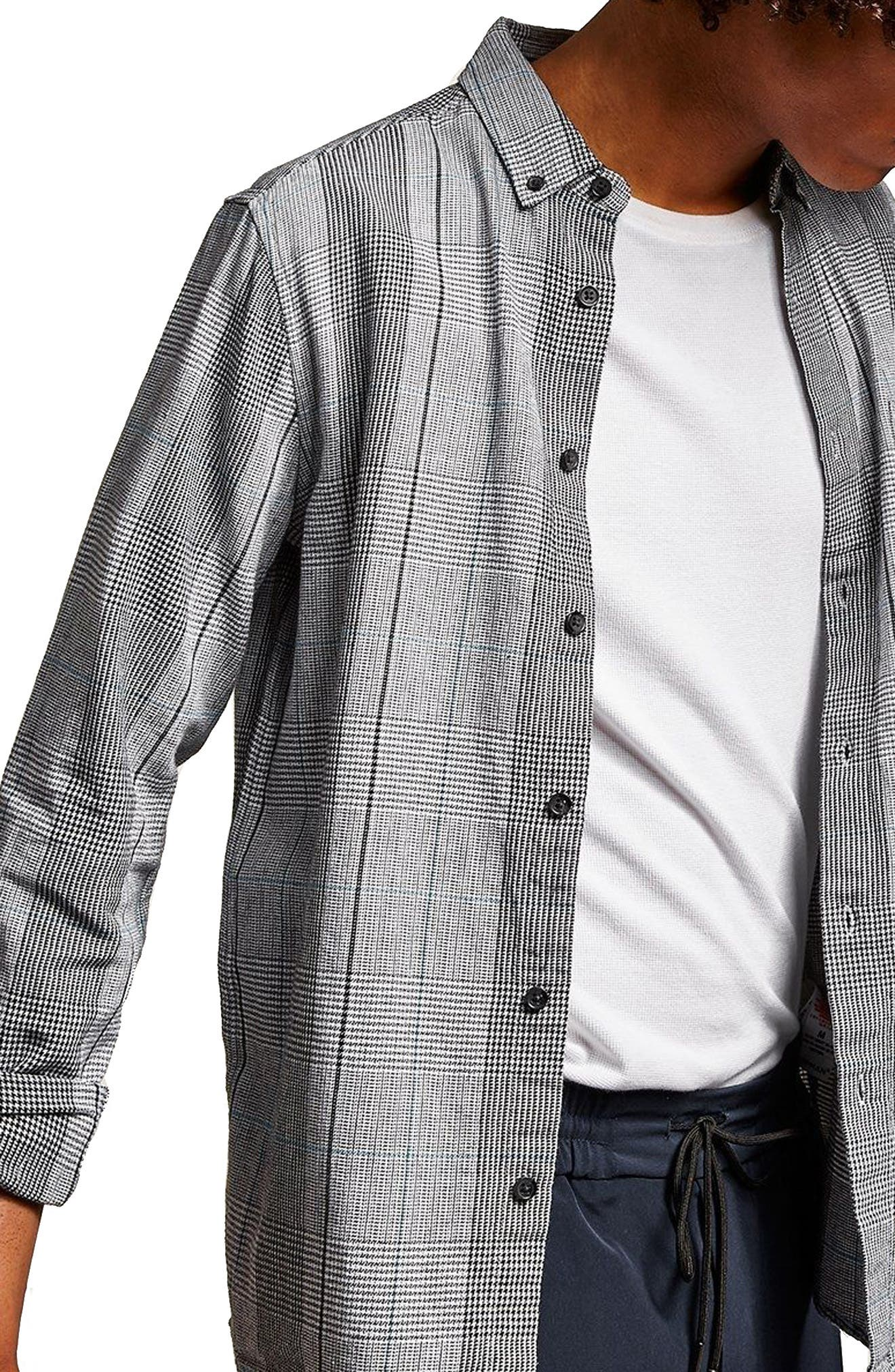 Long Sleeve Heritage Check Classic Fit Sport Shirt,                             Main thumbnail 1, color,                             Grey Multi