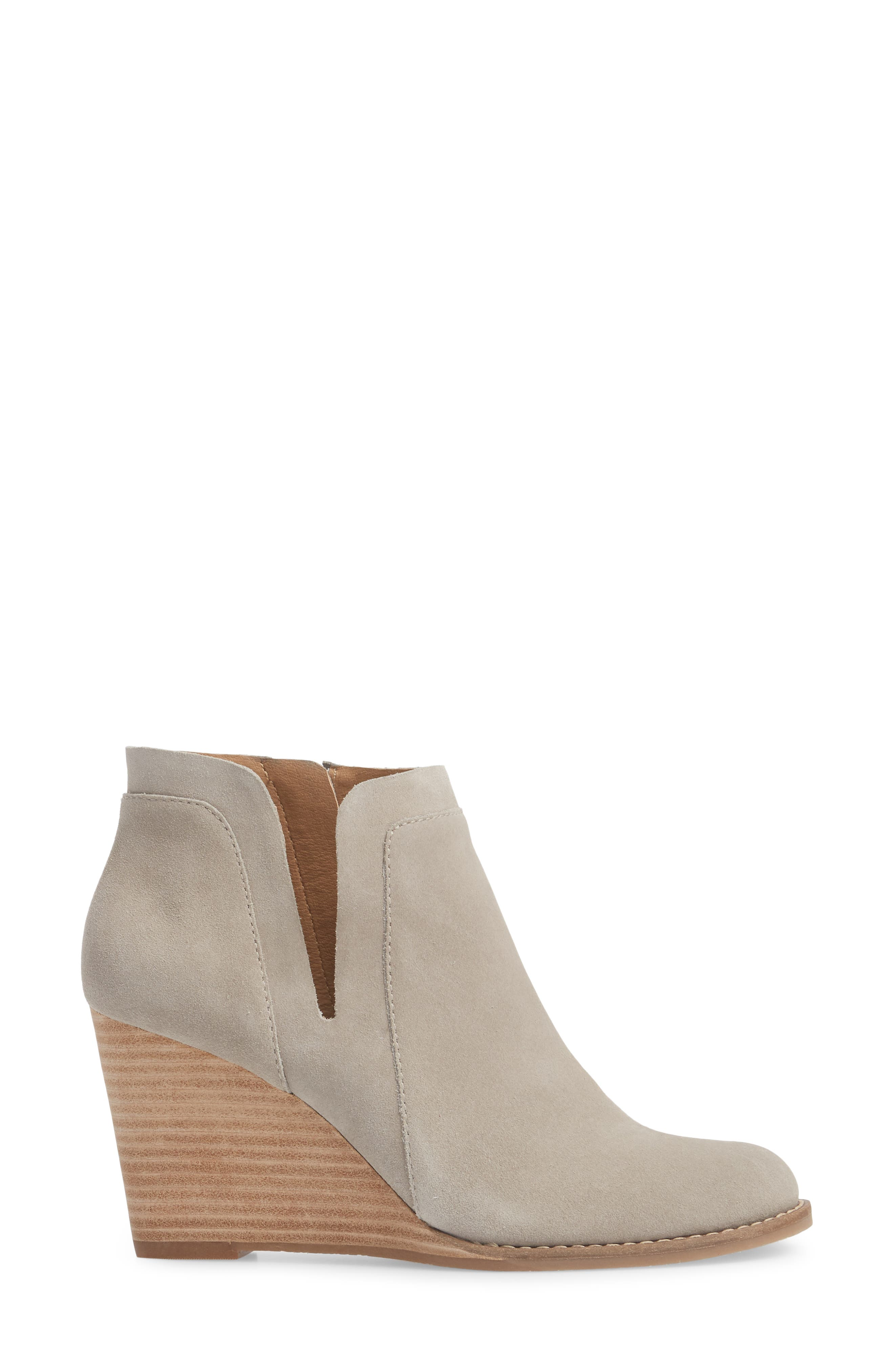 Yabba Wedge Bootie,                             Alternate thumbnail 3, color,                             Grey Suede